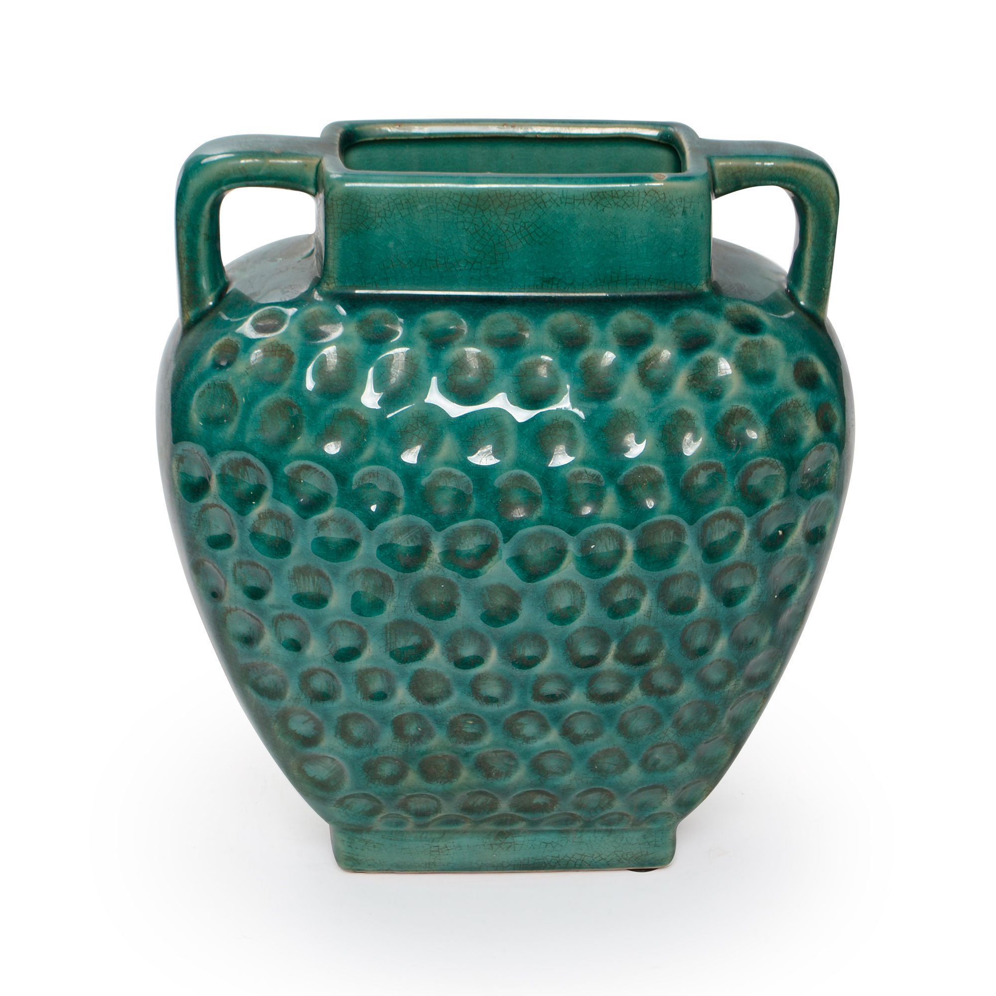 Vaso de cerâmica médio com alças