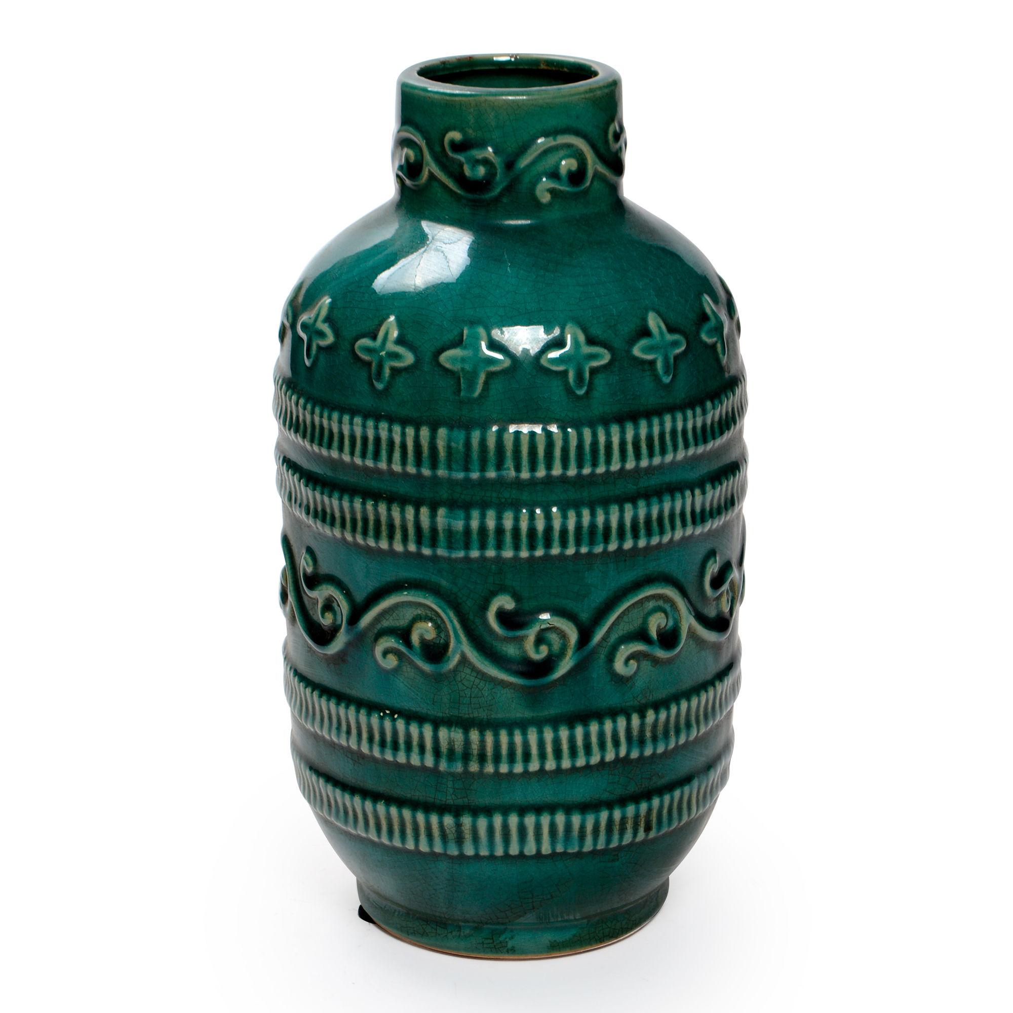 Vaso de cerâmica com detalhes de arabesco Grande