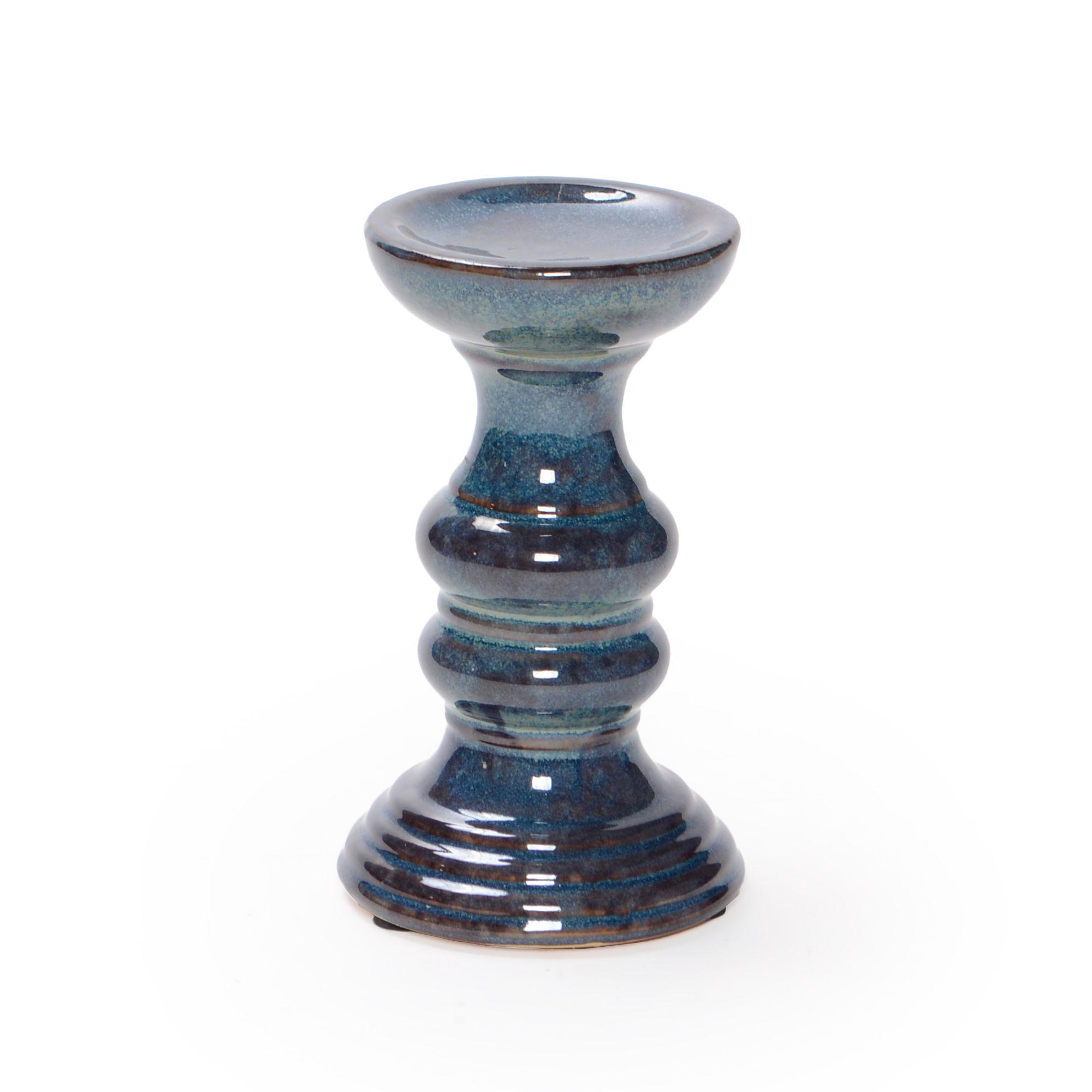 Porta vela de cerâmica Pequeno