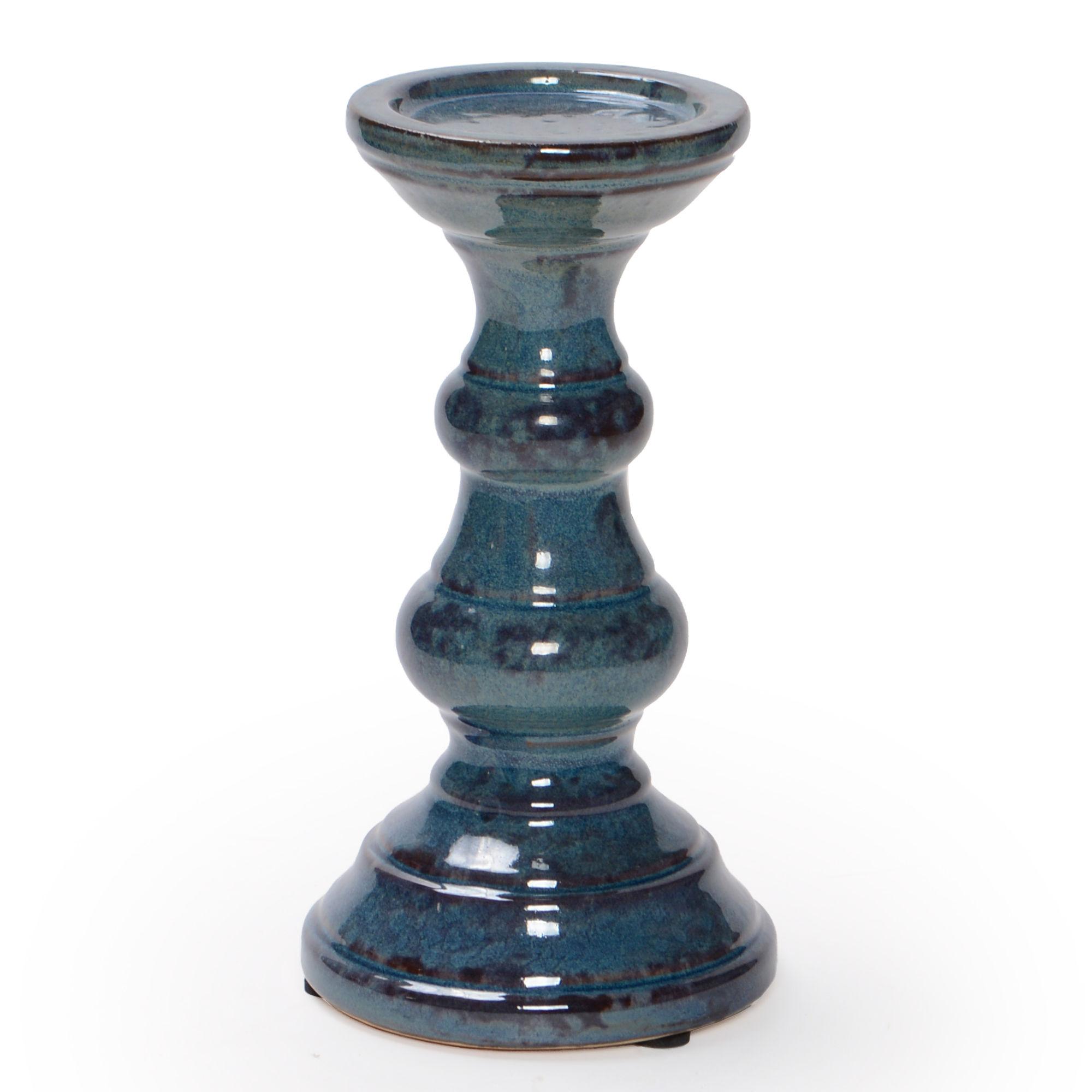 Porta vela de cerâmica Grande
