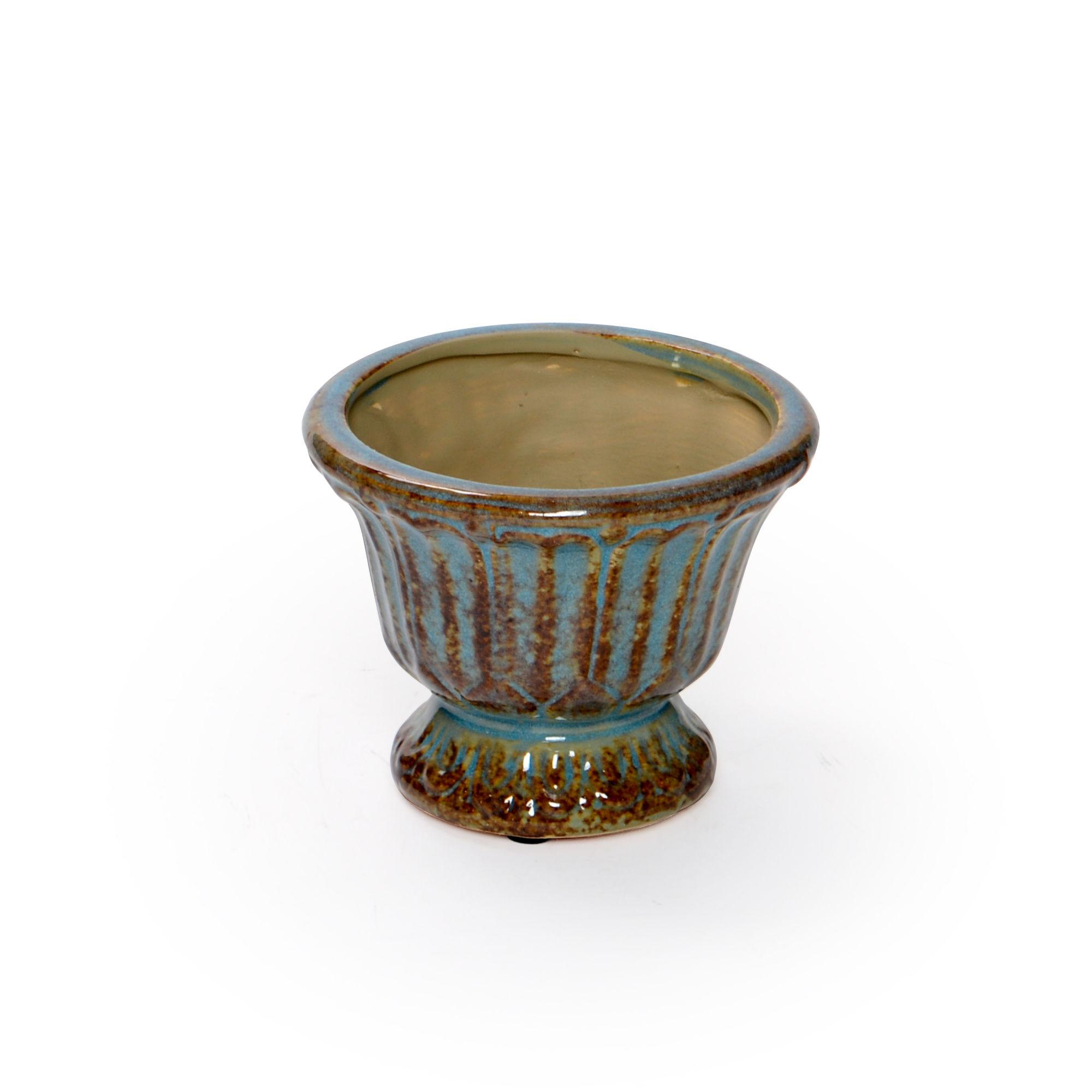 Vaso de cerâmica pequeno Azul