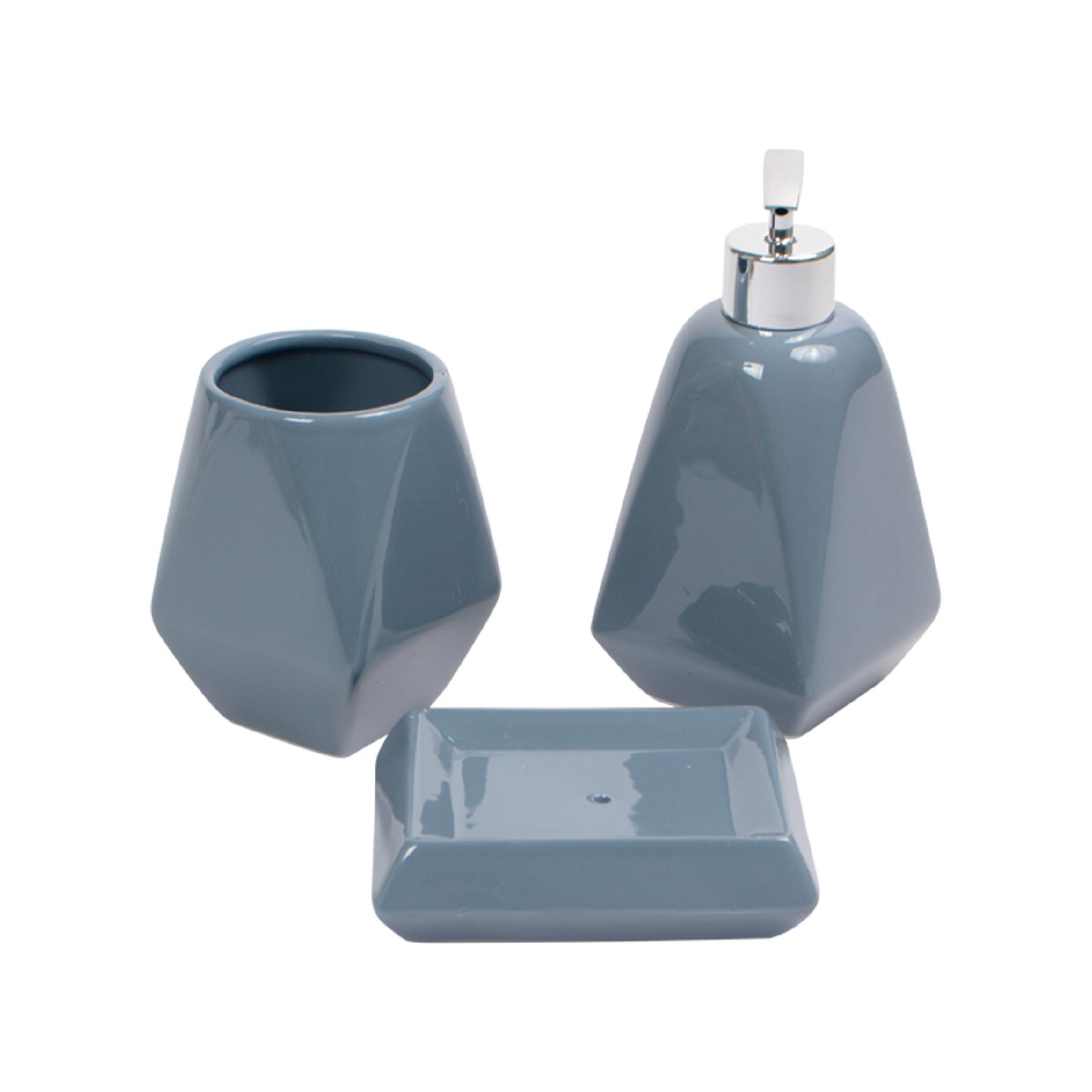 Kit para banheiro de cerâmica 3 peças