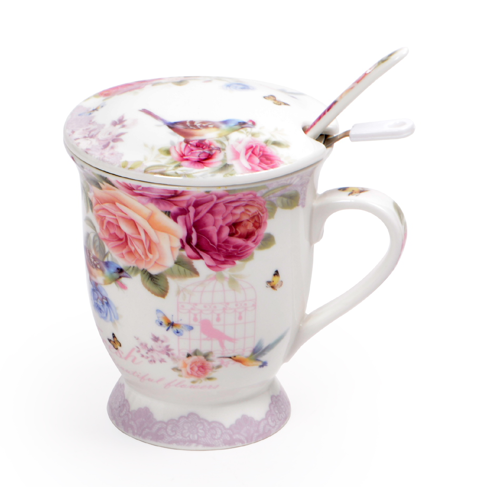 Xícara para Chá Flores