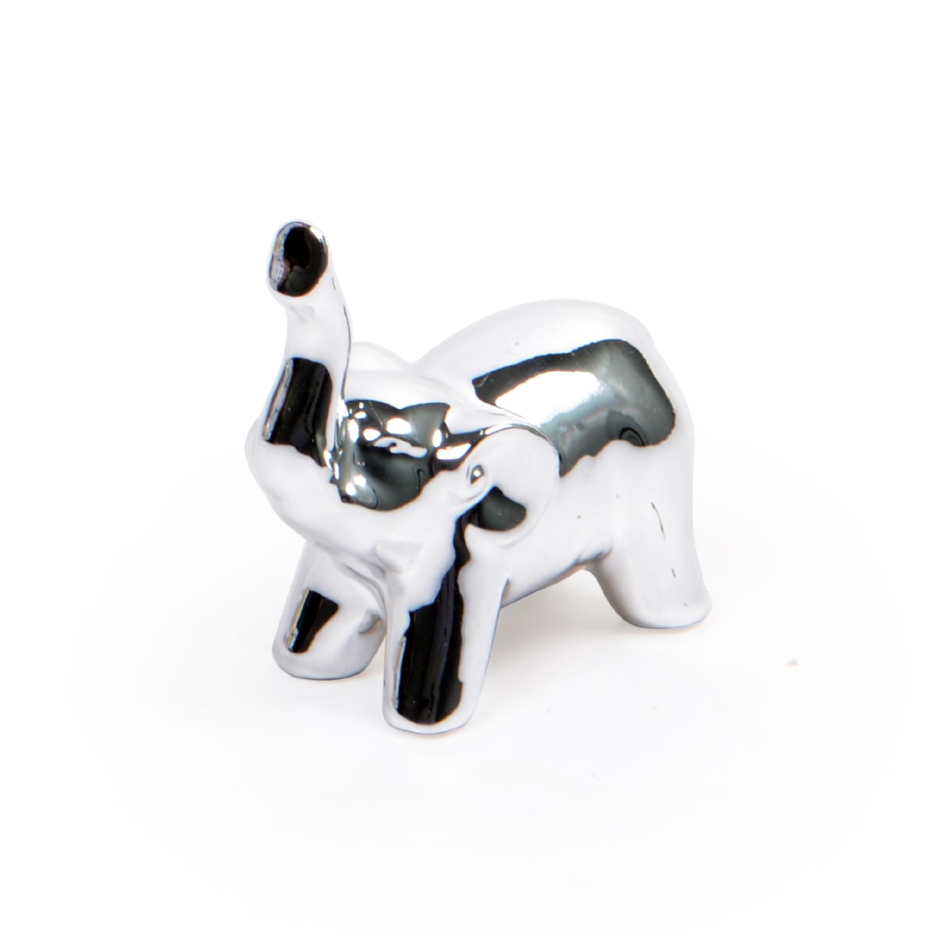 Escultura Elefante Prata
