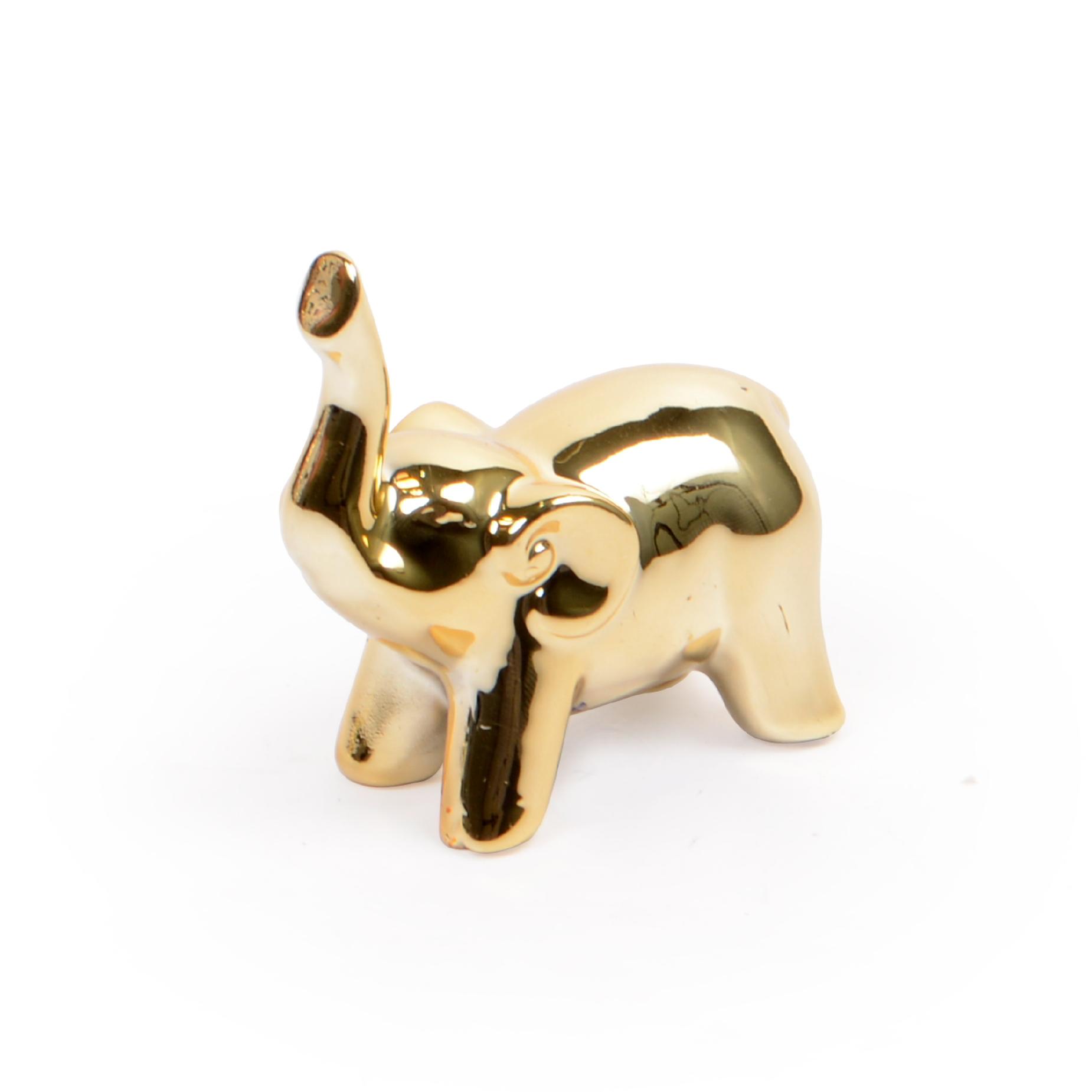 Escultura Elefante Dourado