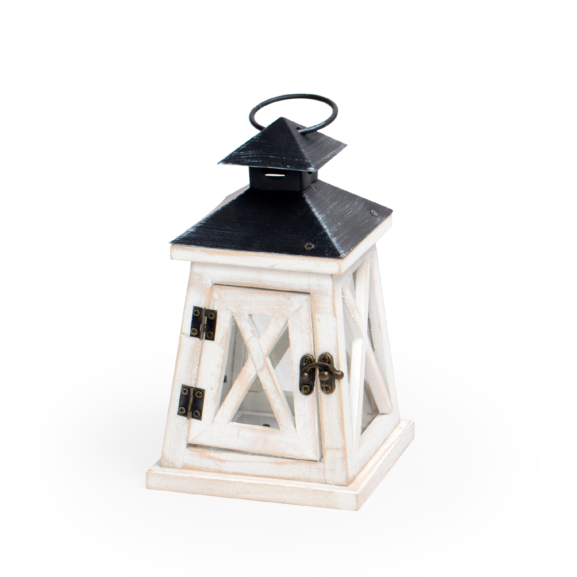 Lanterna de madeira decorativa