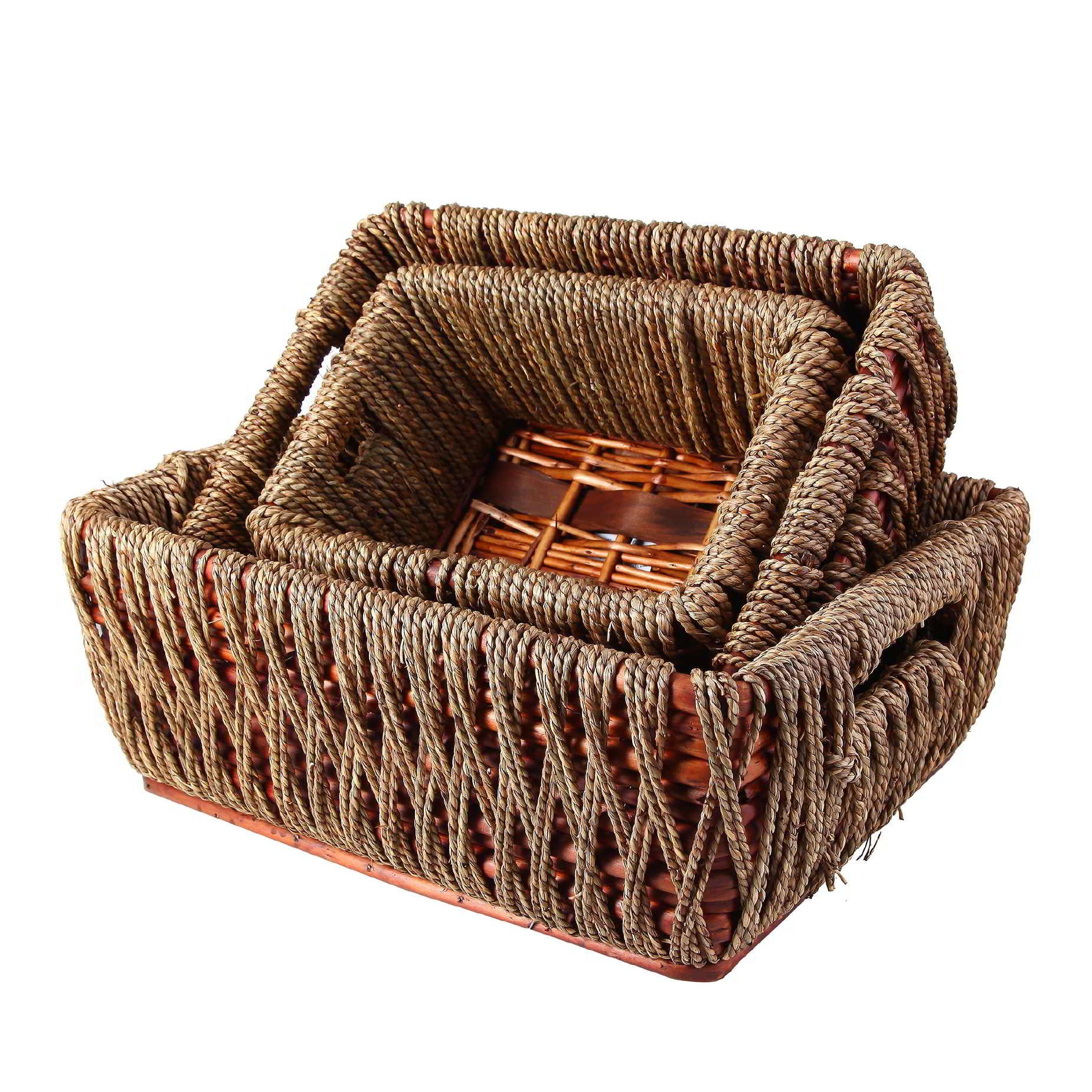 Conjunto de cestas retangular