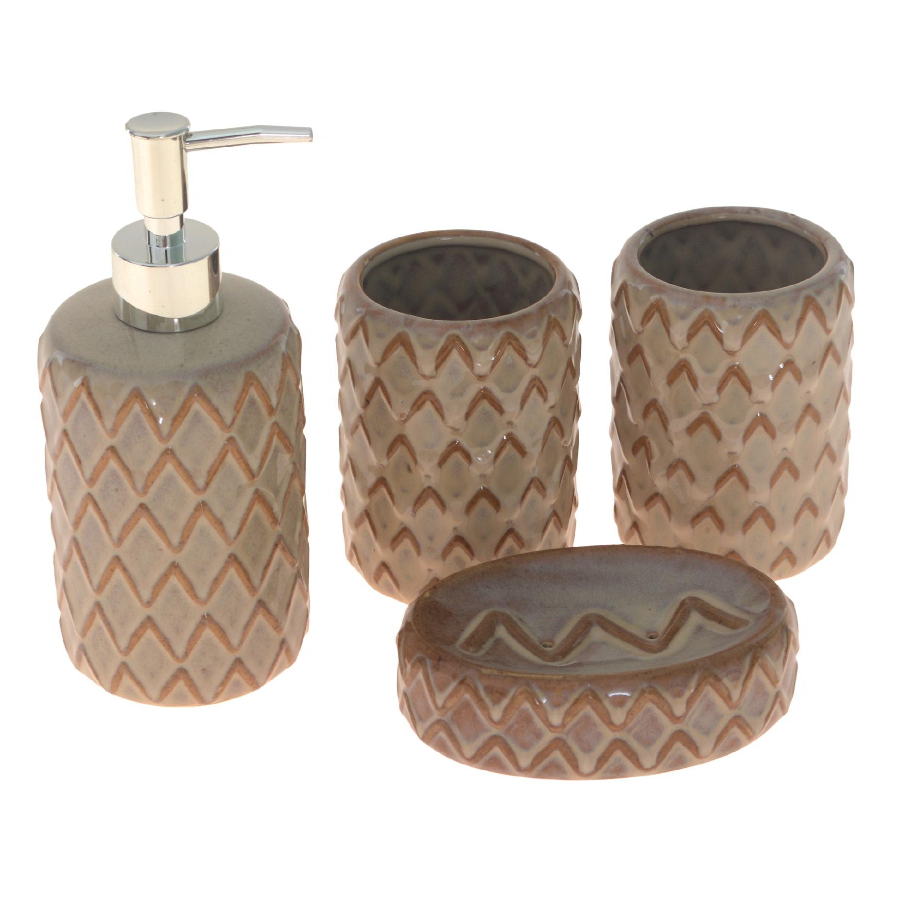 Kit para banheiro de cerâmica 4 peças