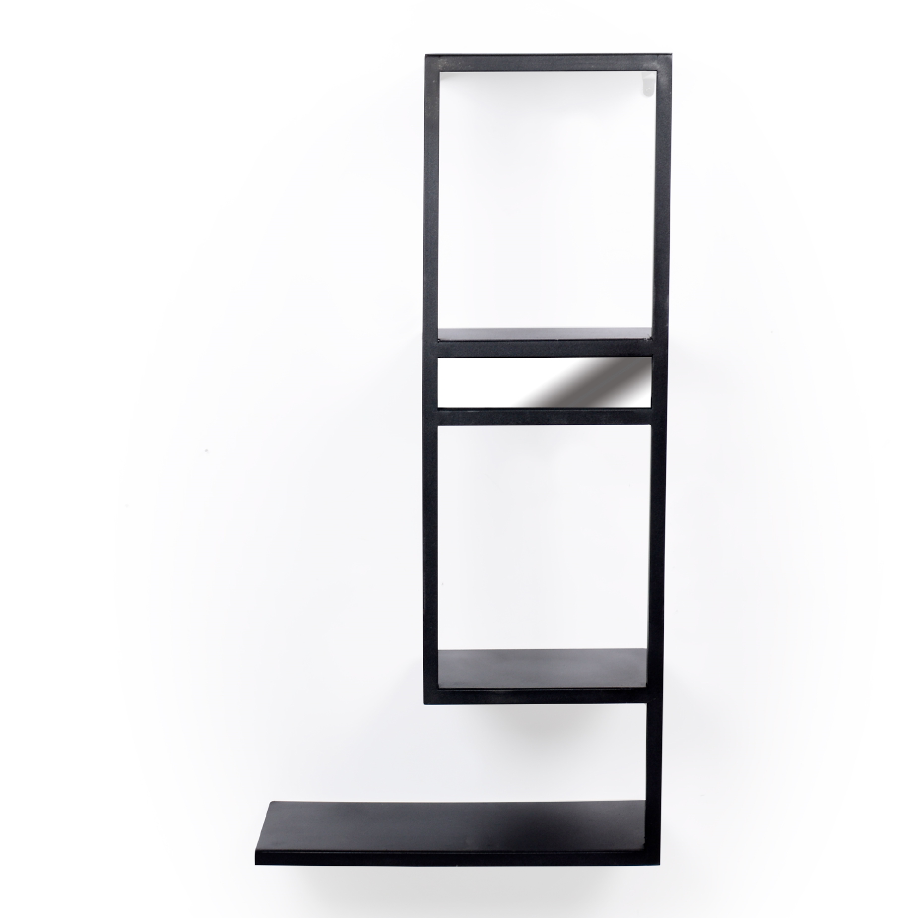 Prateleira de ferro com espelho 04 andares
