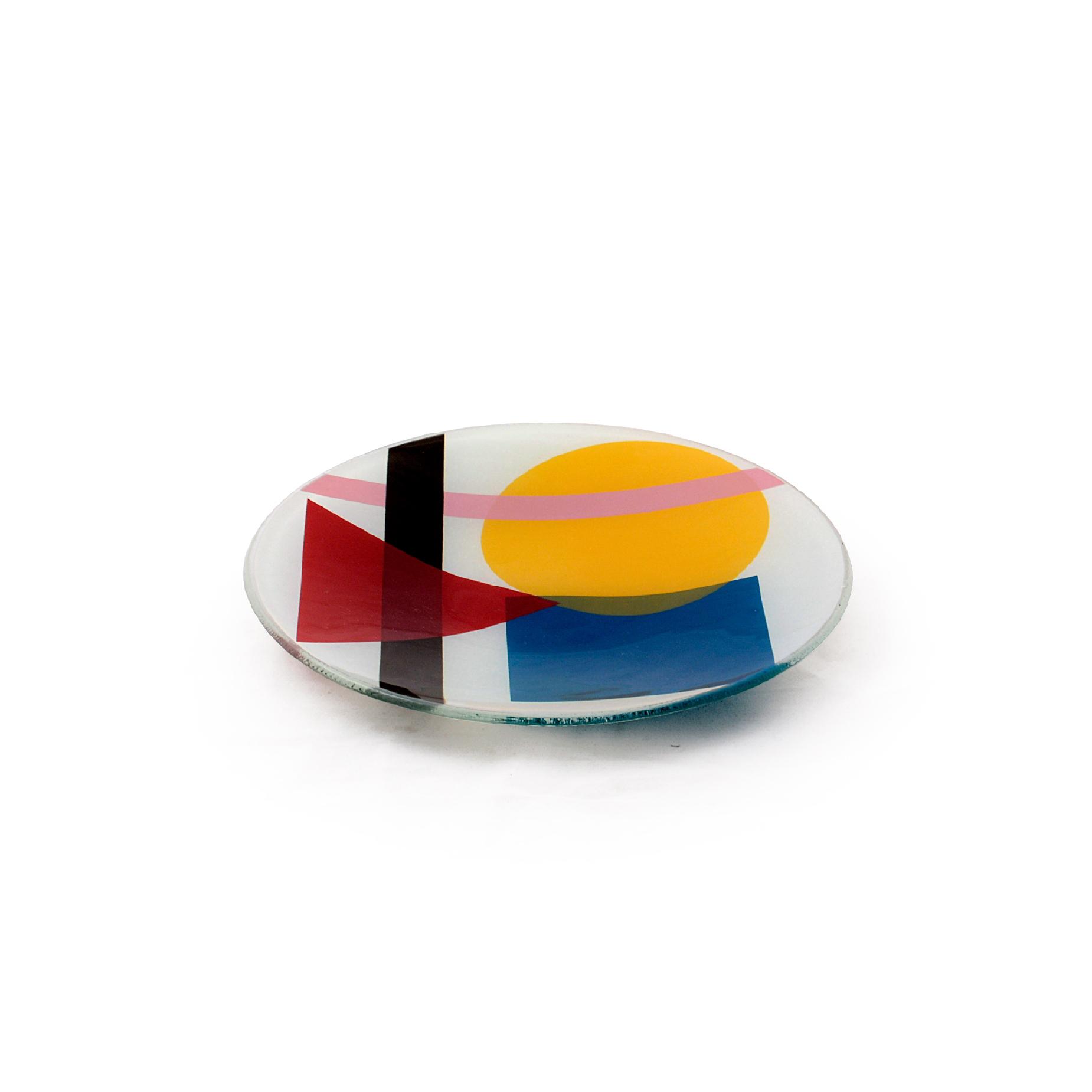 Conjunto 02 pratos de sobremesa Geométrica