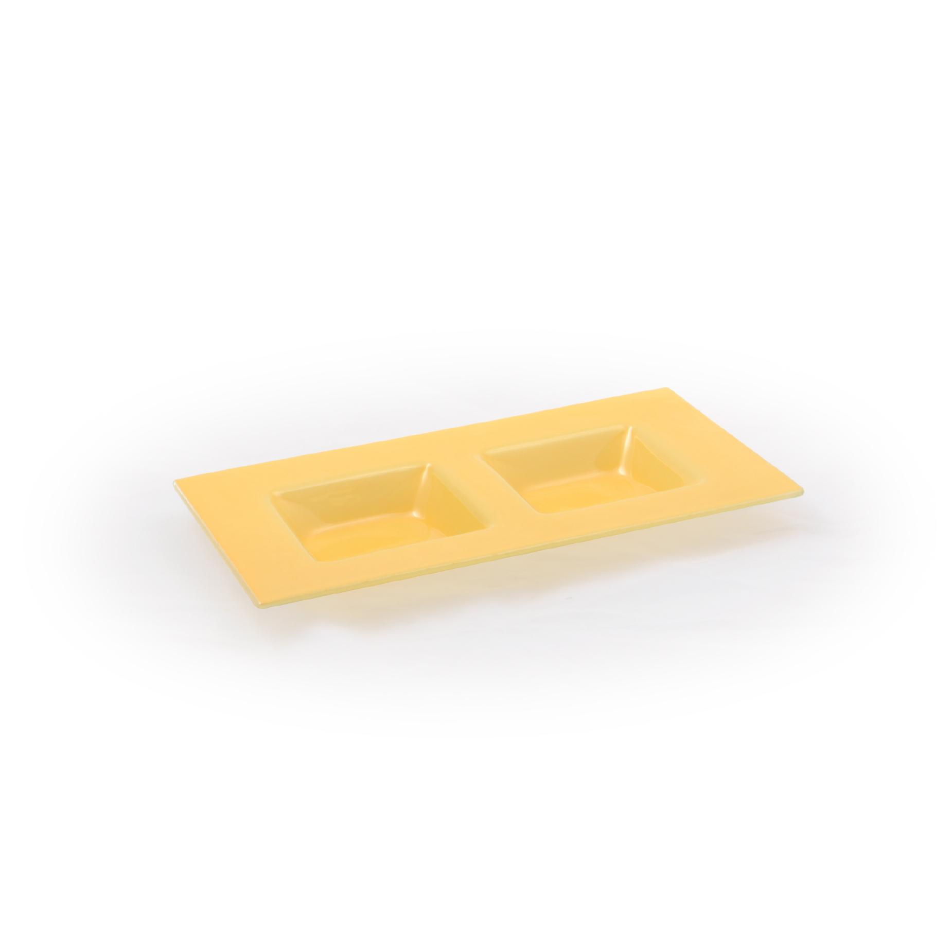 Petisqueira 02 divisórias Amarelo