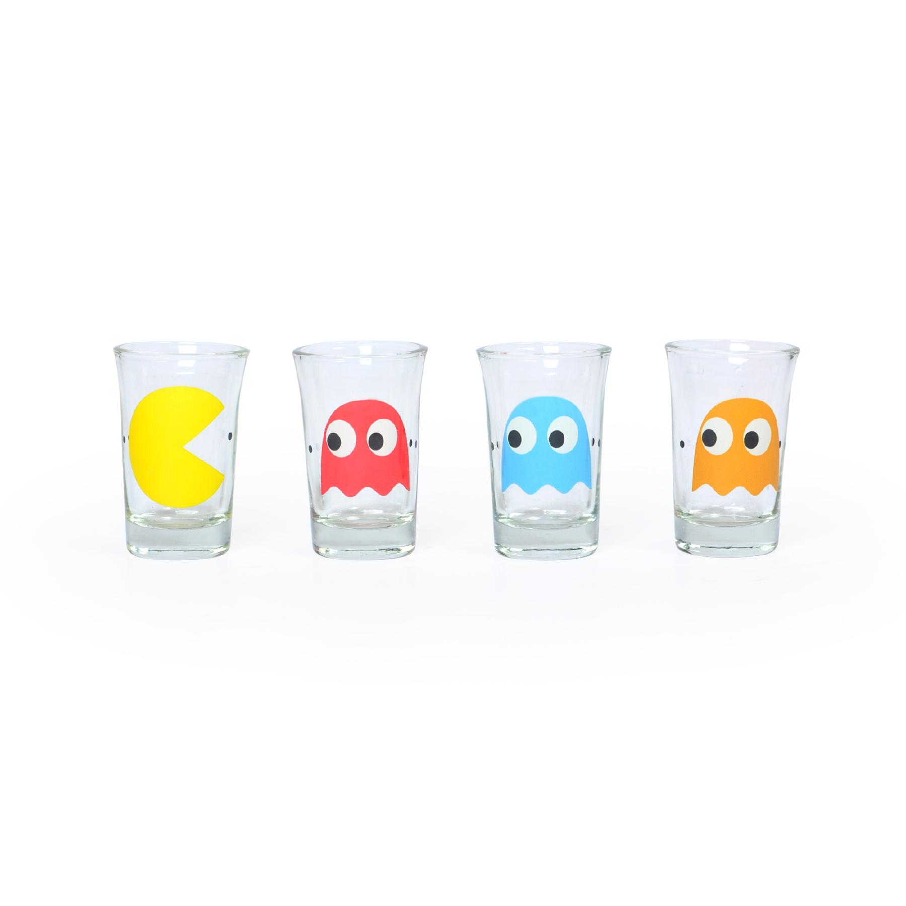 Conjunto com 04 copos de Shot Pac Man