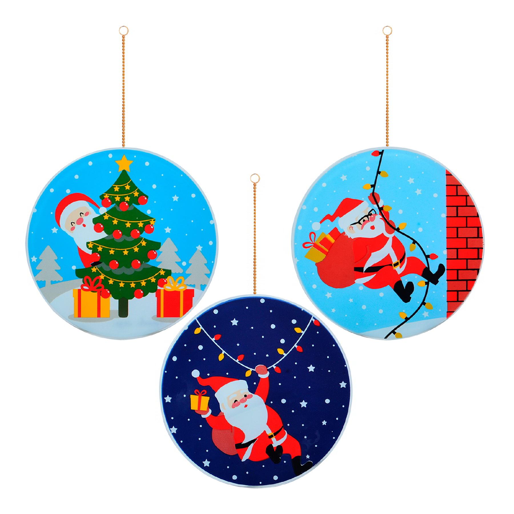 Trio de Guirlandas Papai Noel