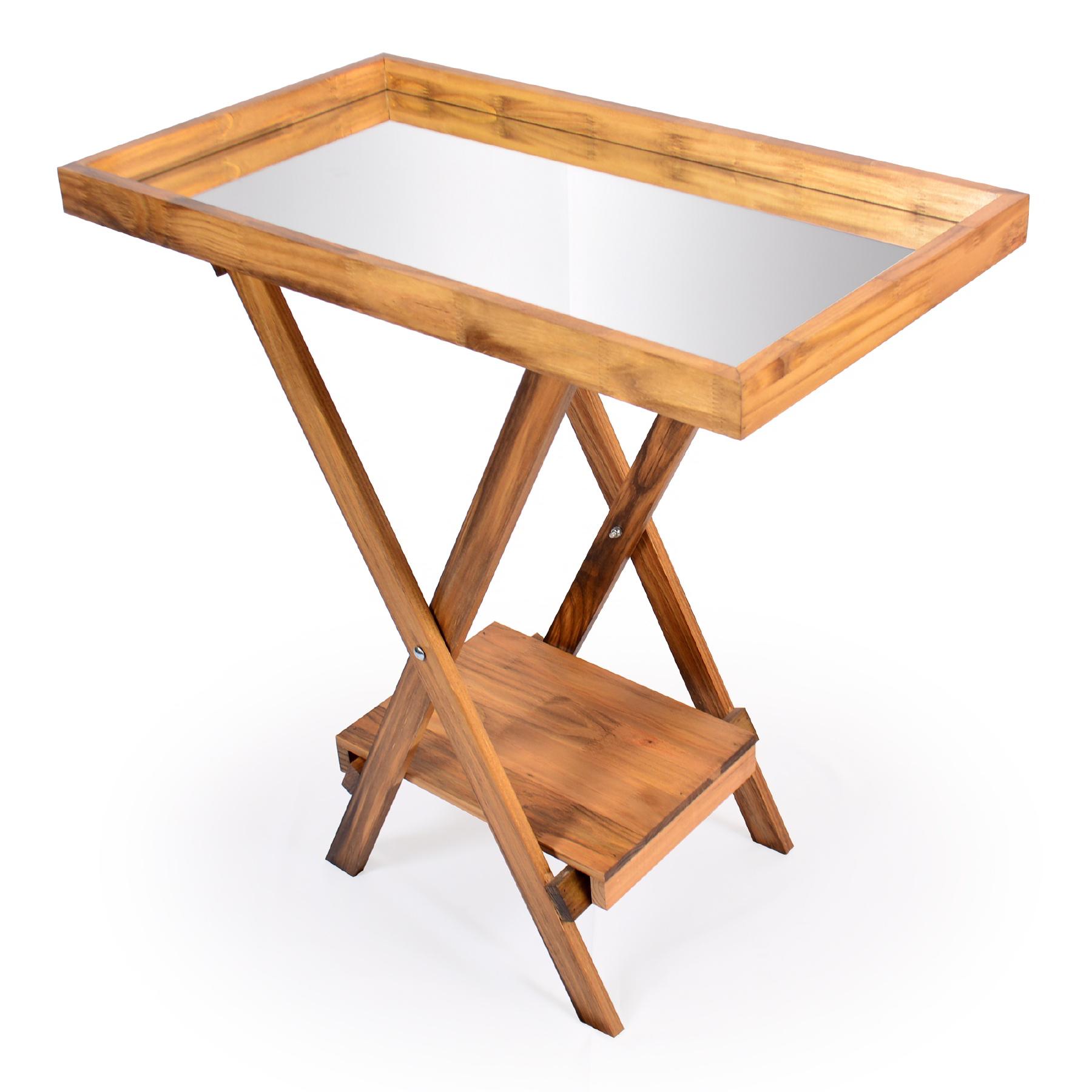 Aparador de madeira e Espelho