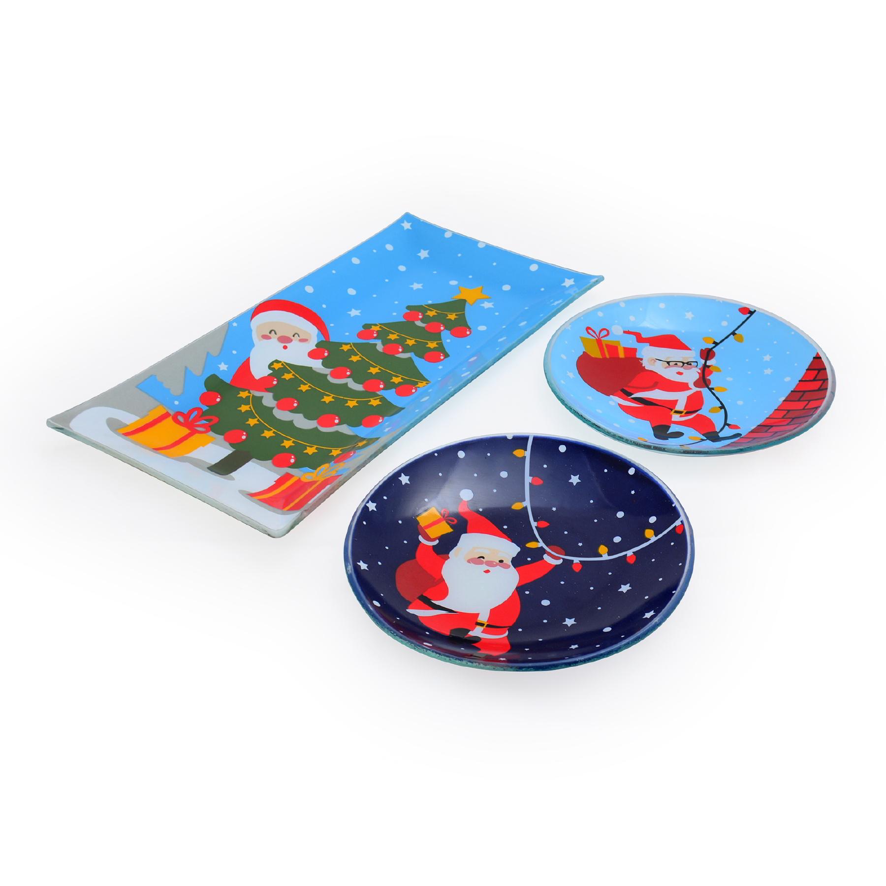 Conjunto Petisqueiras Papai Noel