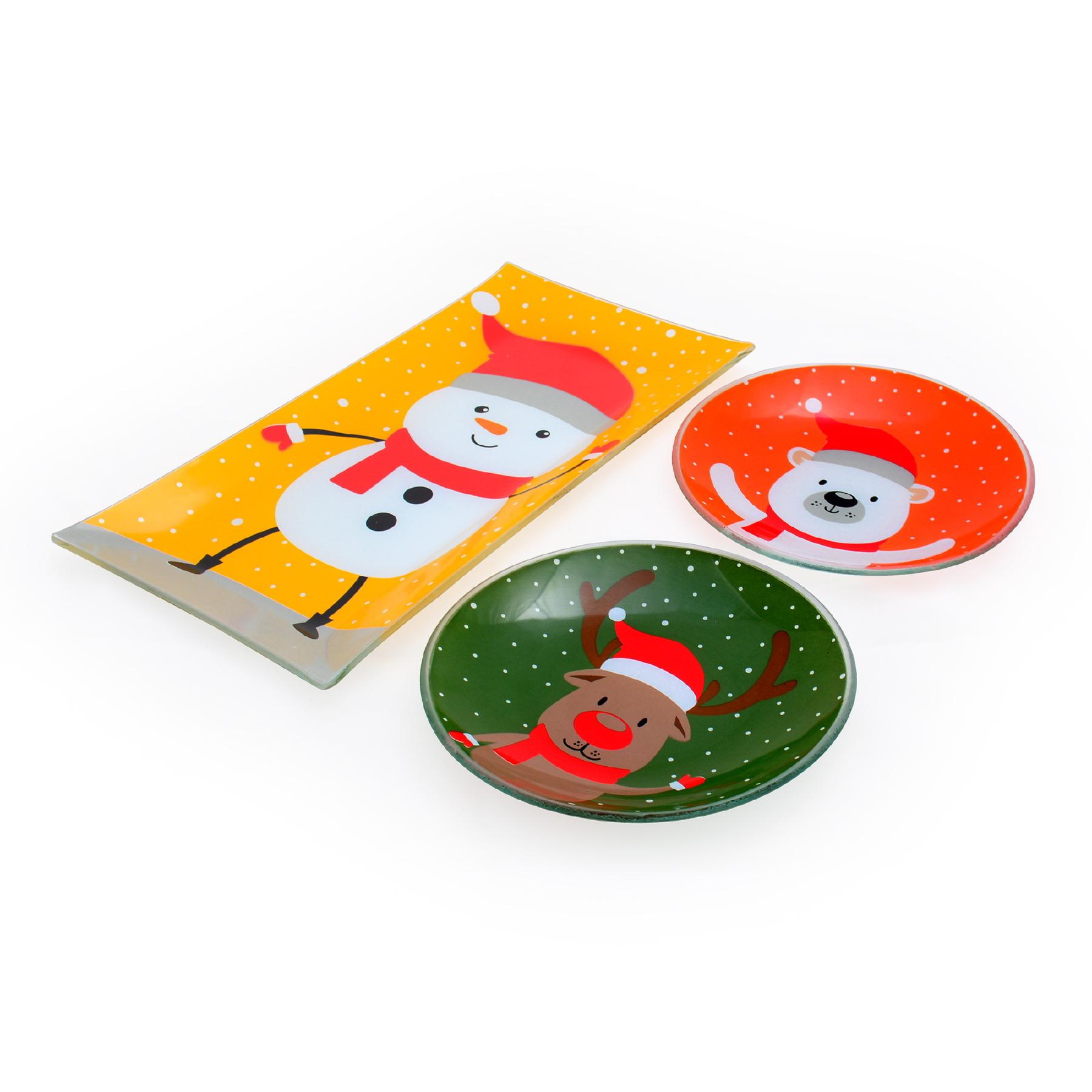 Conjunto Petisqueiras Animais de Natal