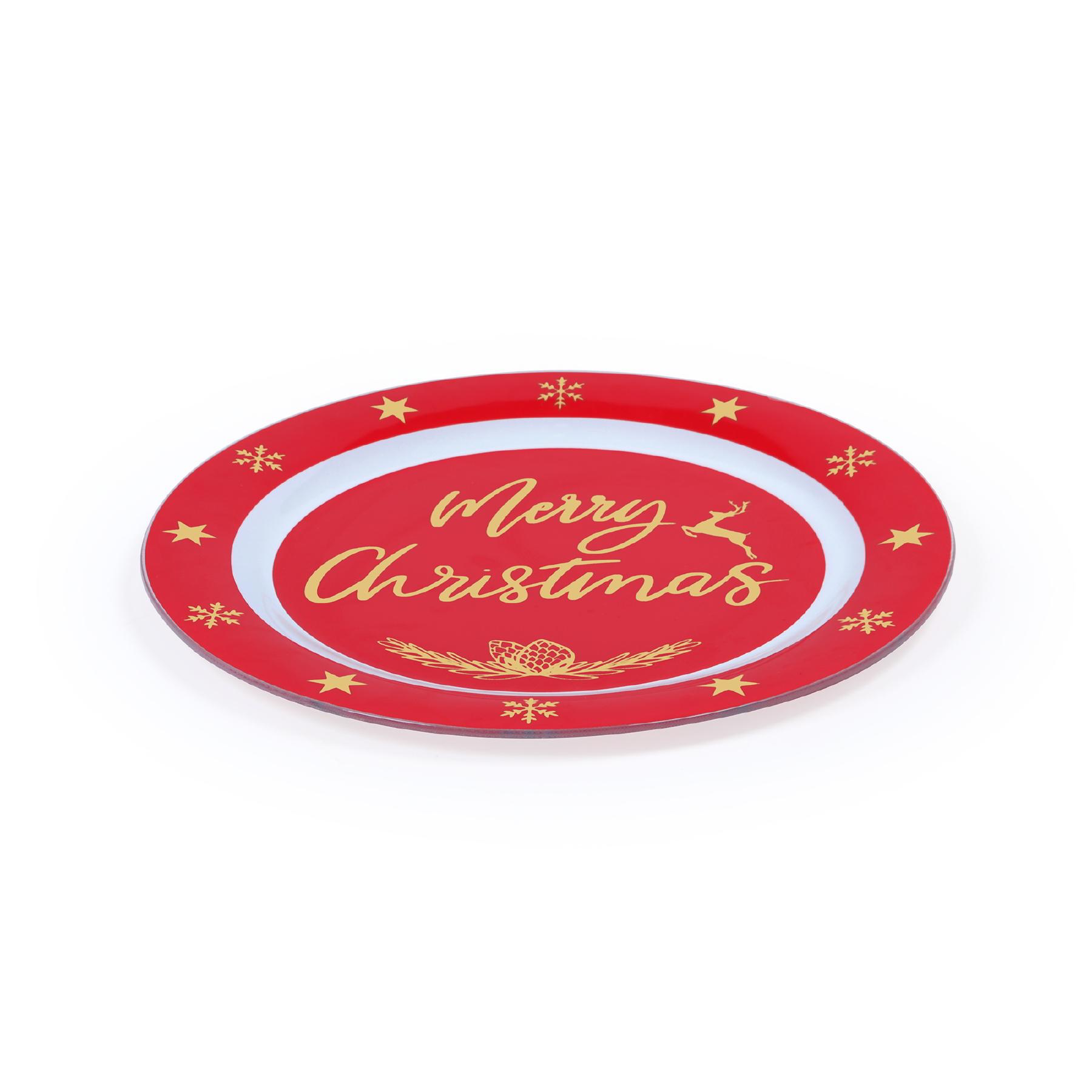 Prato de Bolo Natal Dourado