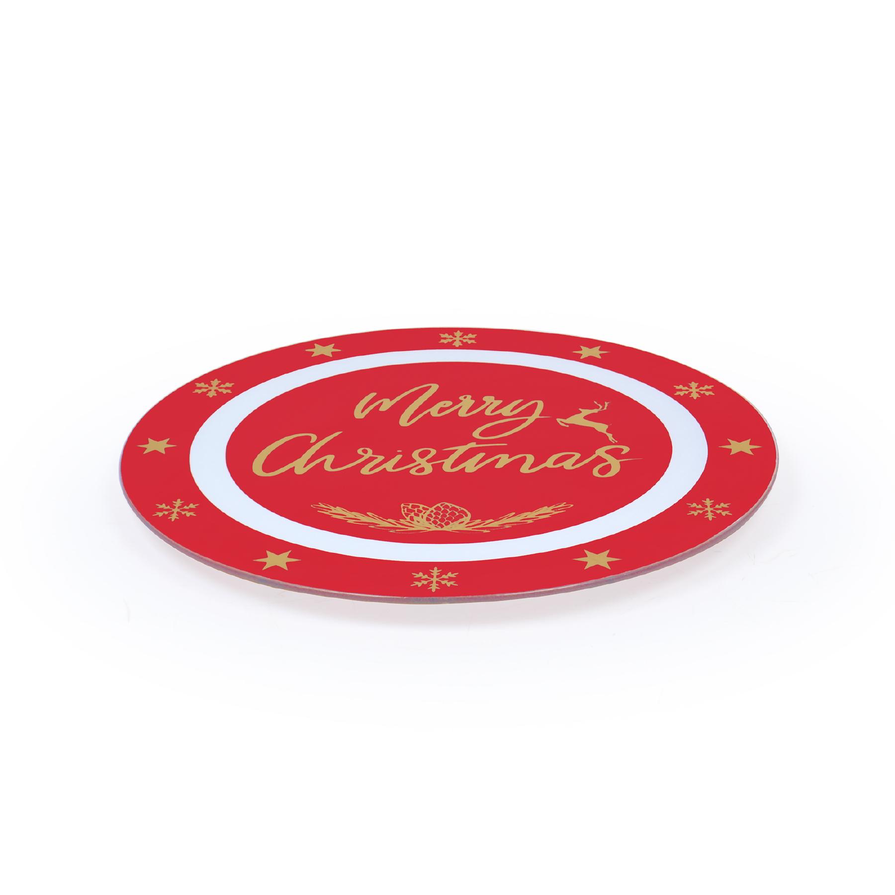 Prato Giratório Natal Dourado