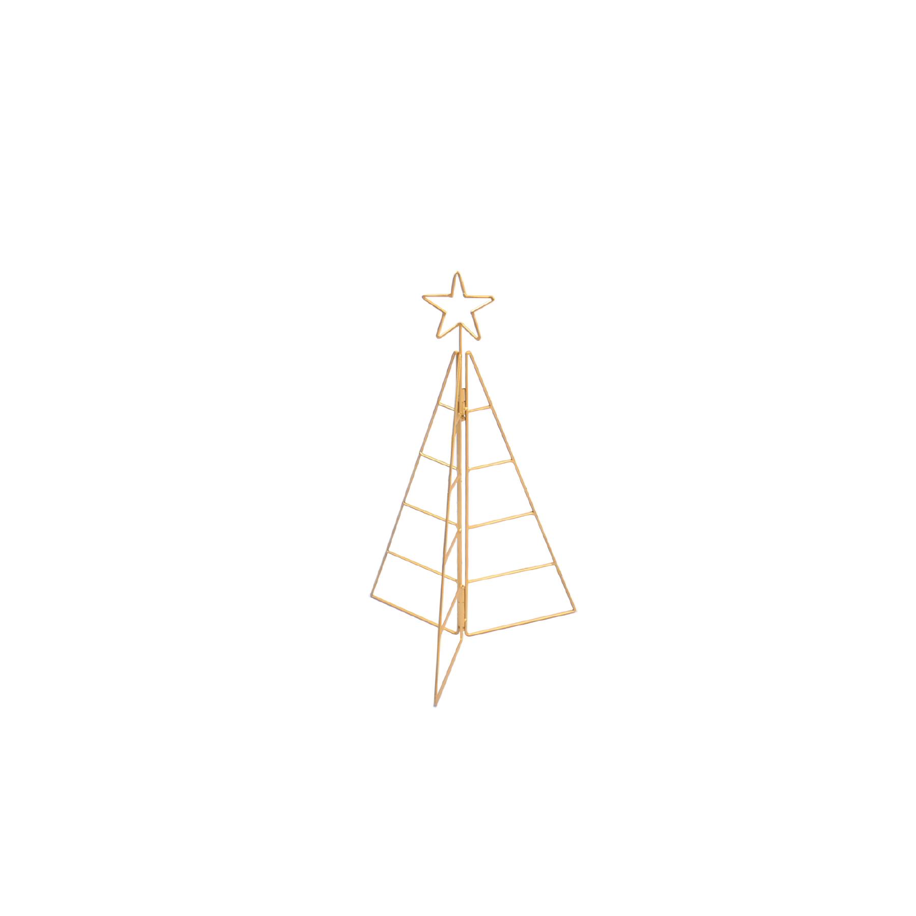 Árvore de Natal de Ferro Dourada Pequena