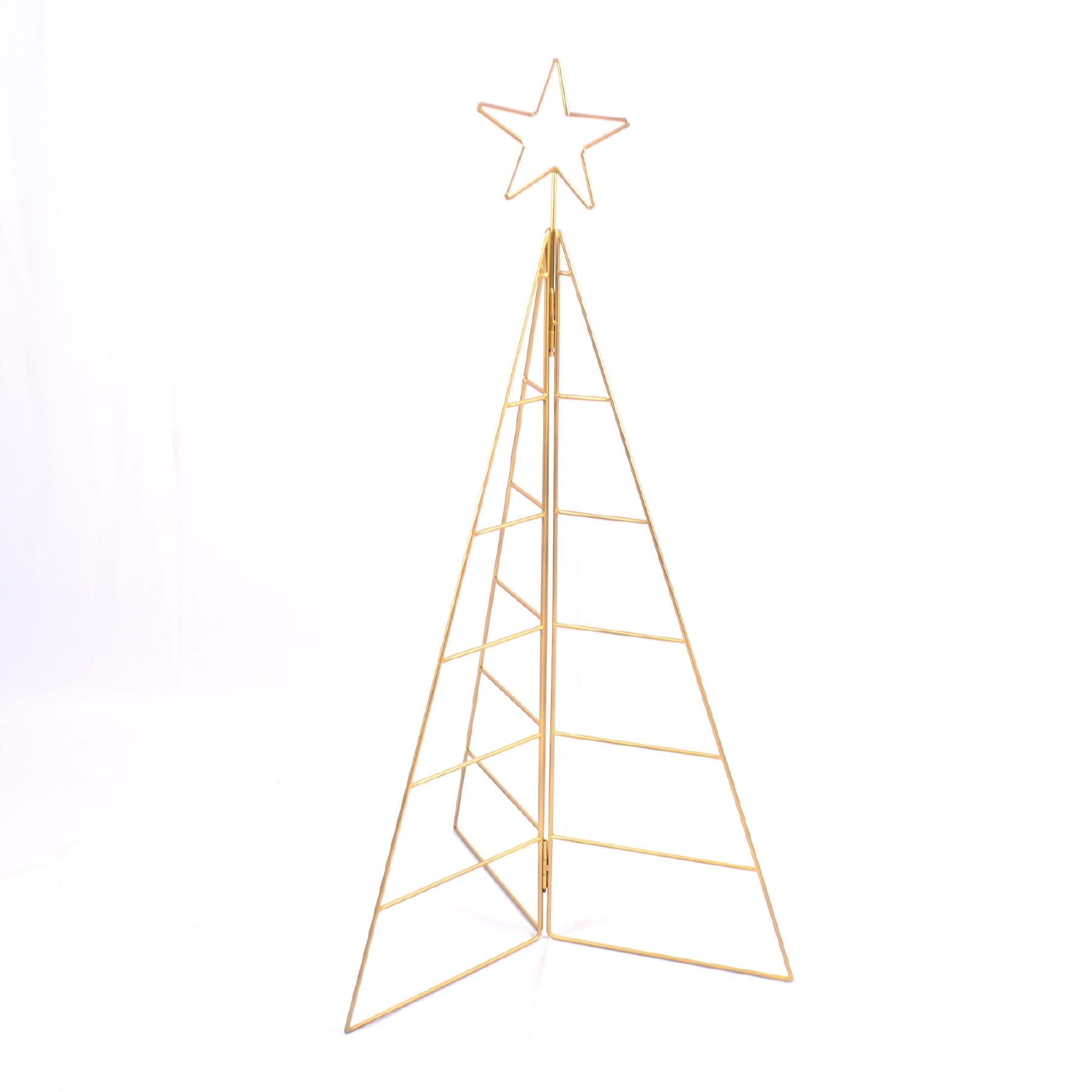 Árvore de Natal de Ferro Dourada Grande