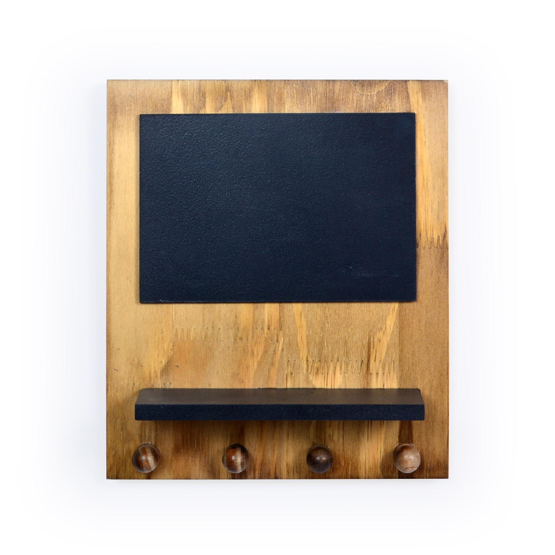 Porta chave de madeira Recado e prateleira