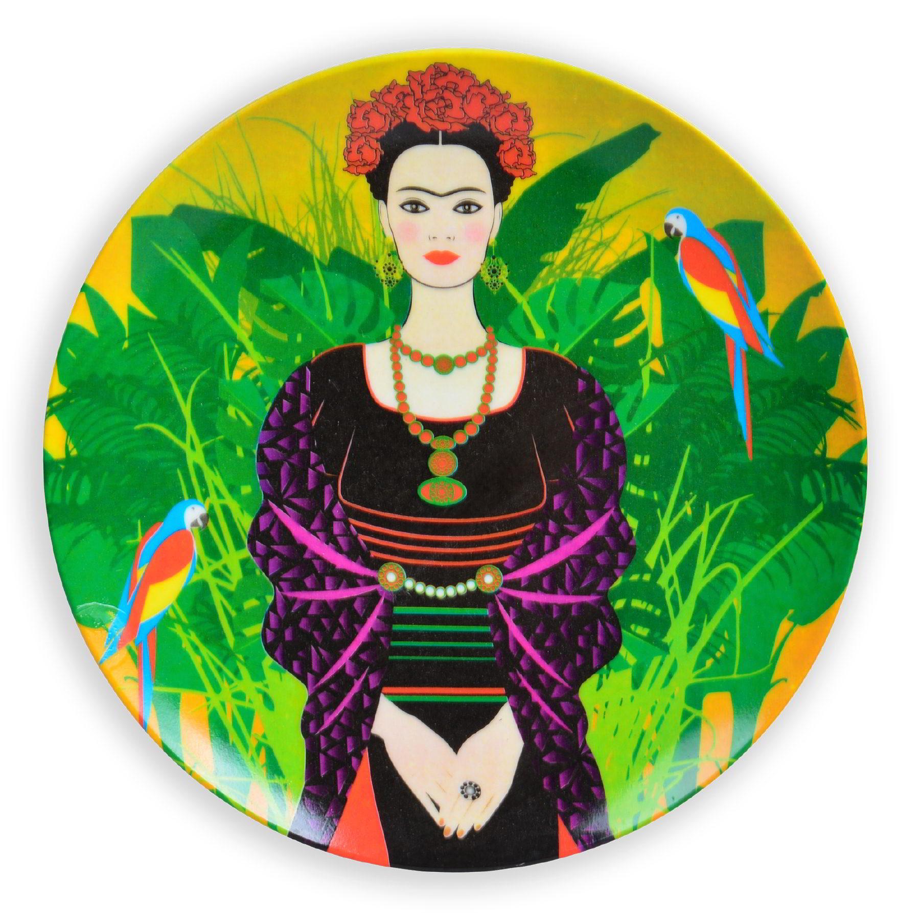 Prato de parede Frida Kahlo Pássaros