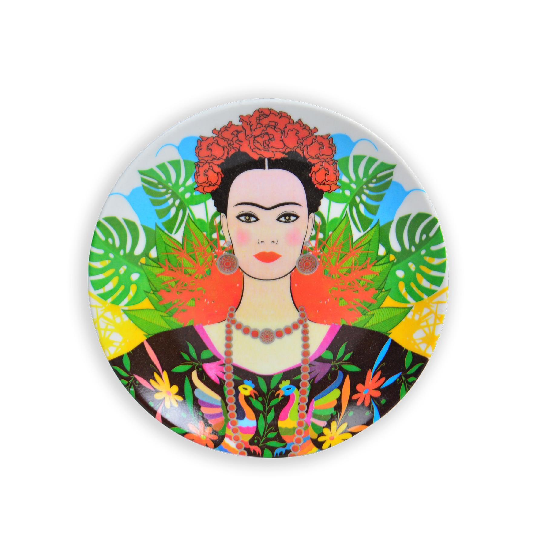 Prato de parede Frida Kahlo Folhagem