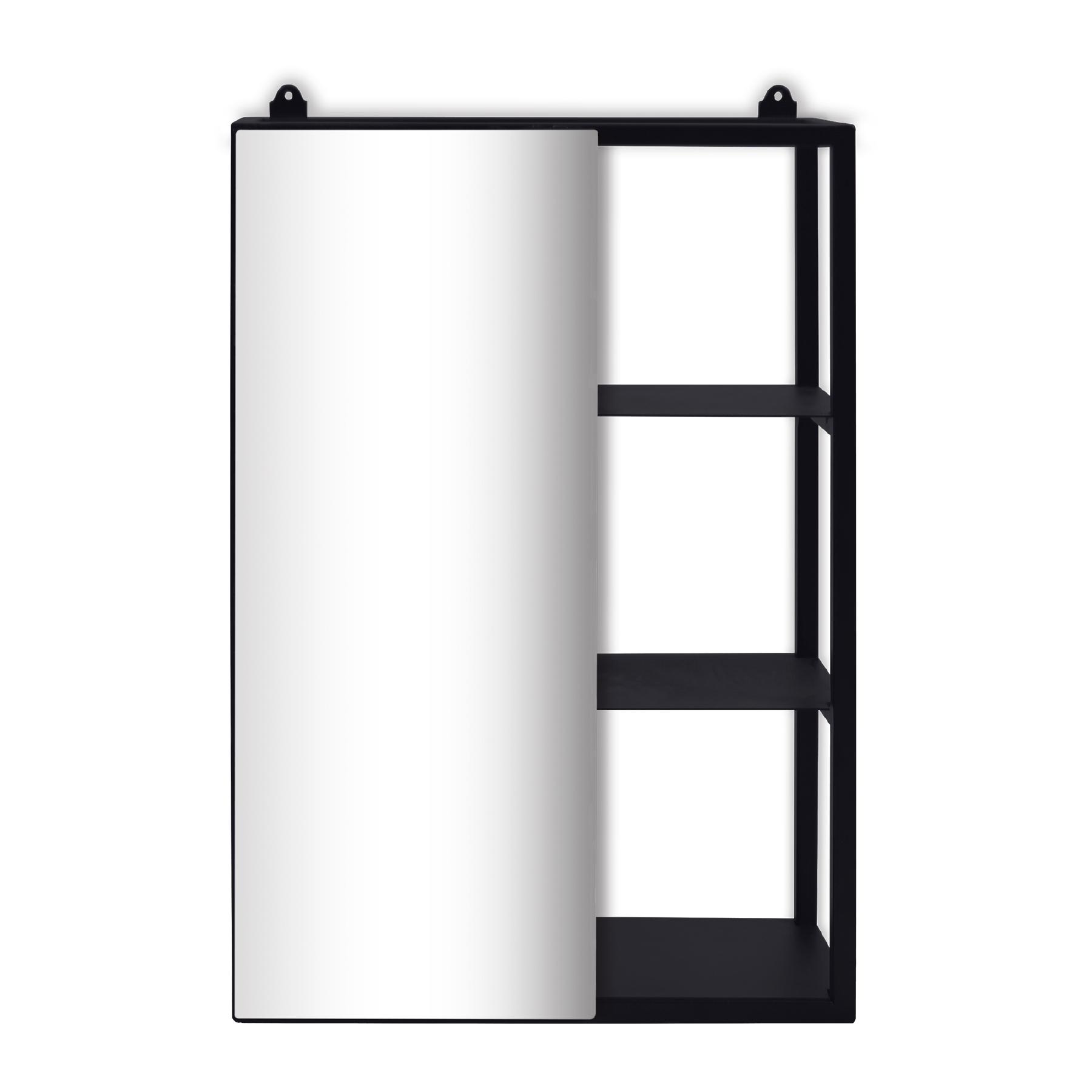 Prateleira com 03 divisórias com espelho