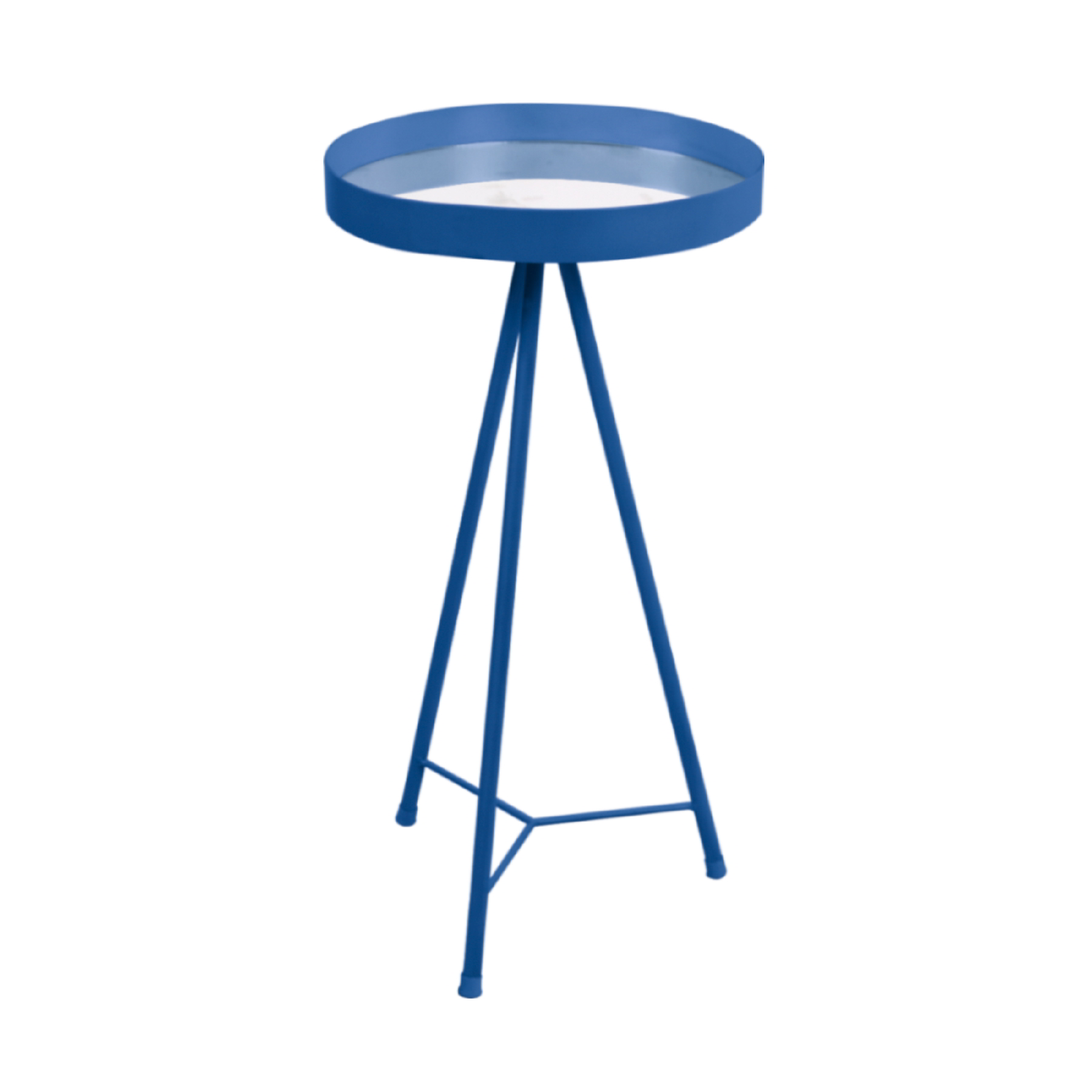 Mesa Lateral com espelho Azul Cobalto G
