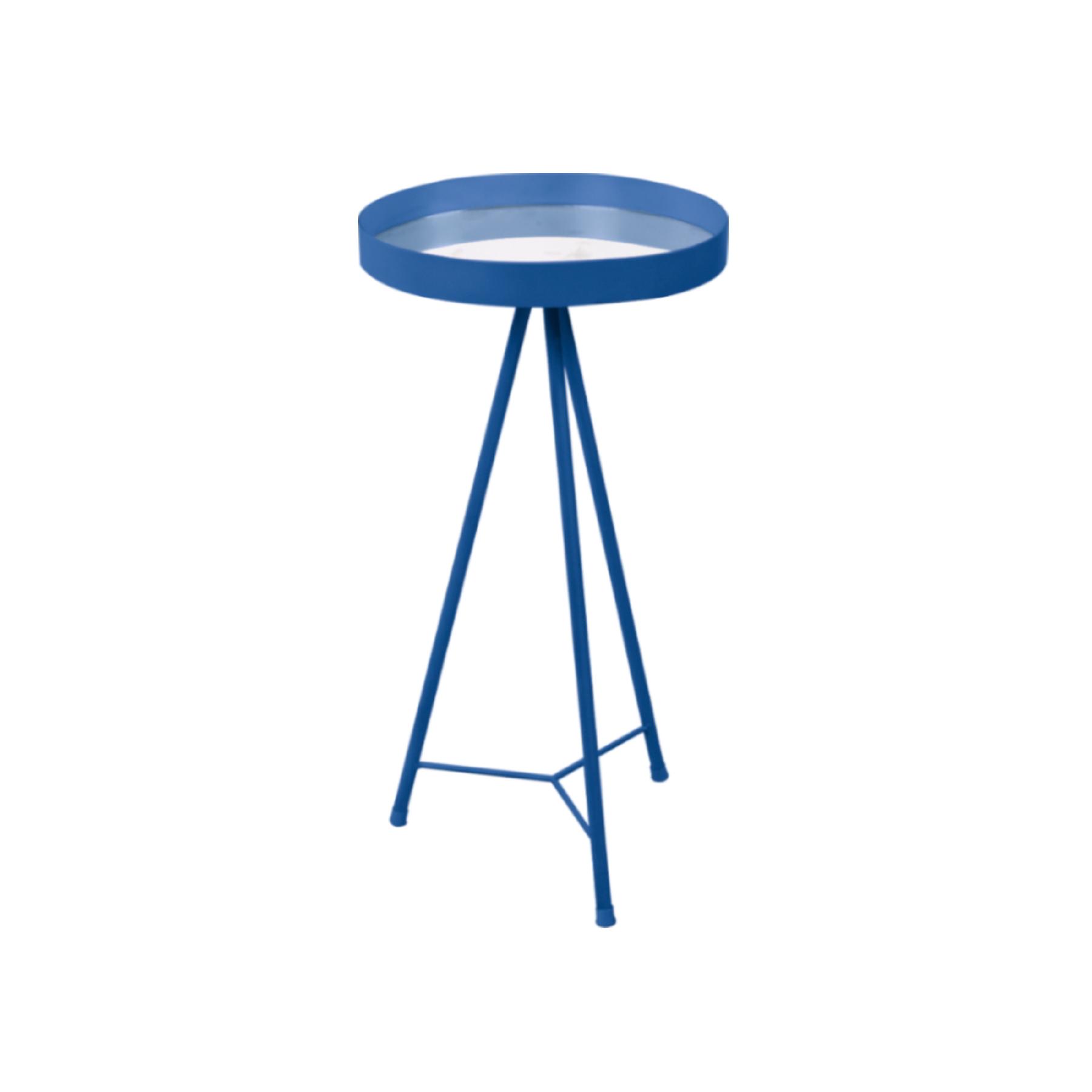 Mesa Lateral com espelho Azul Cobalto M