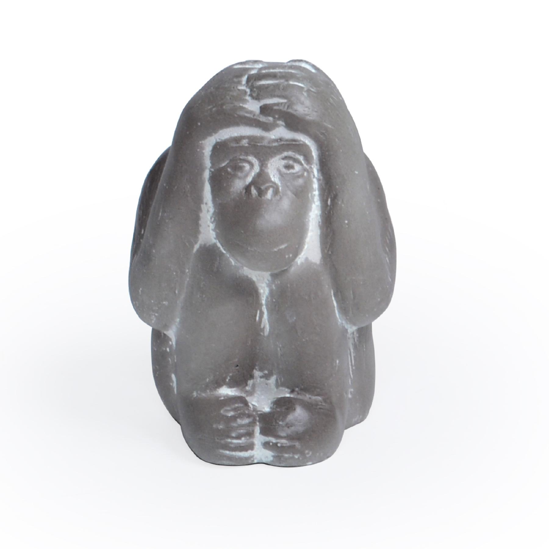 Escultura de Concreto Macaco da Sabedoria Surdo