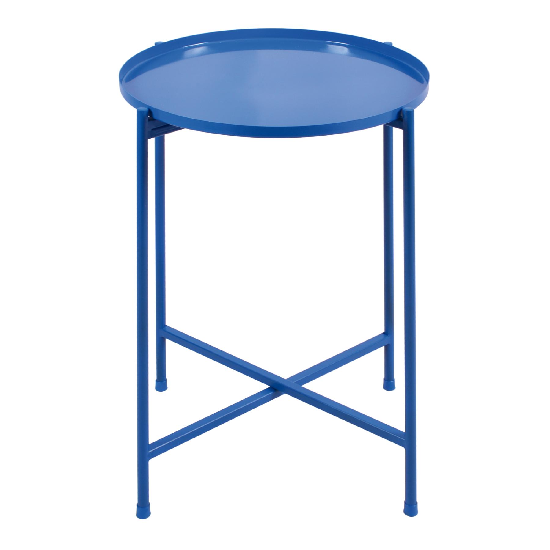 Mesa lateral desmontável Grande Azul Cobalto