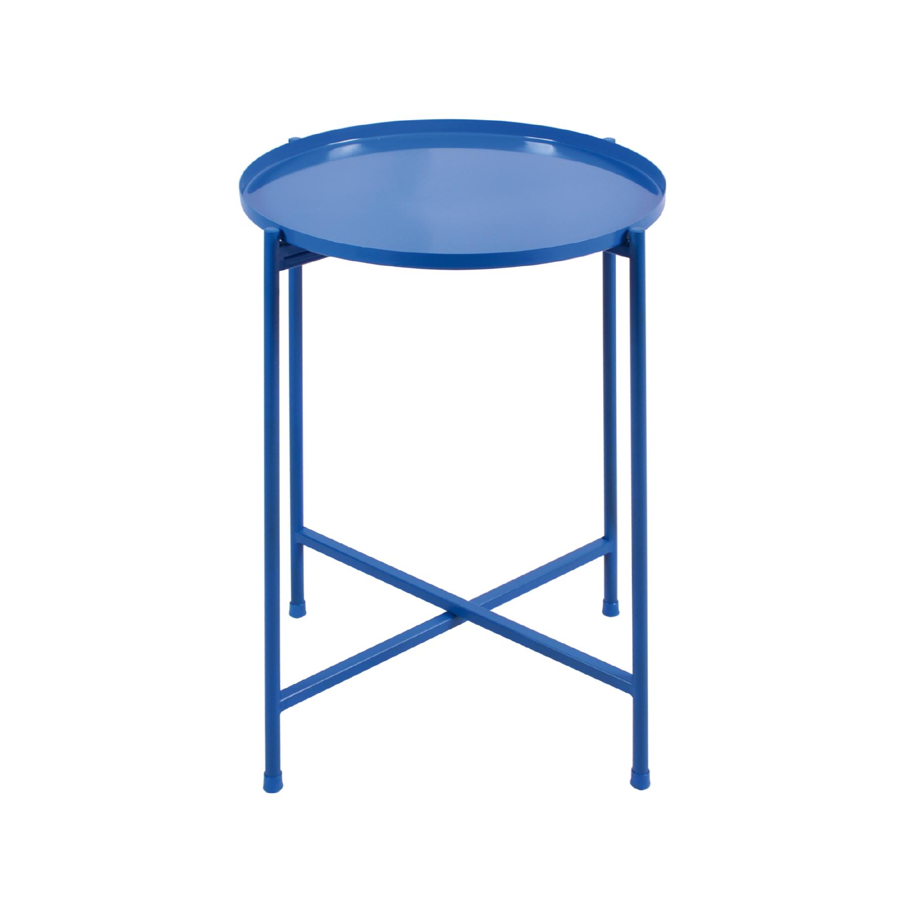 Mesa lateral desmontável Média Azul Cobalto