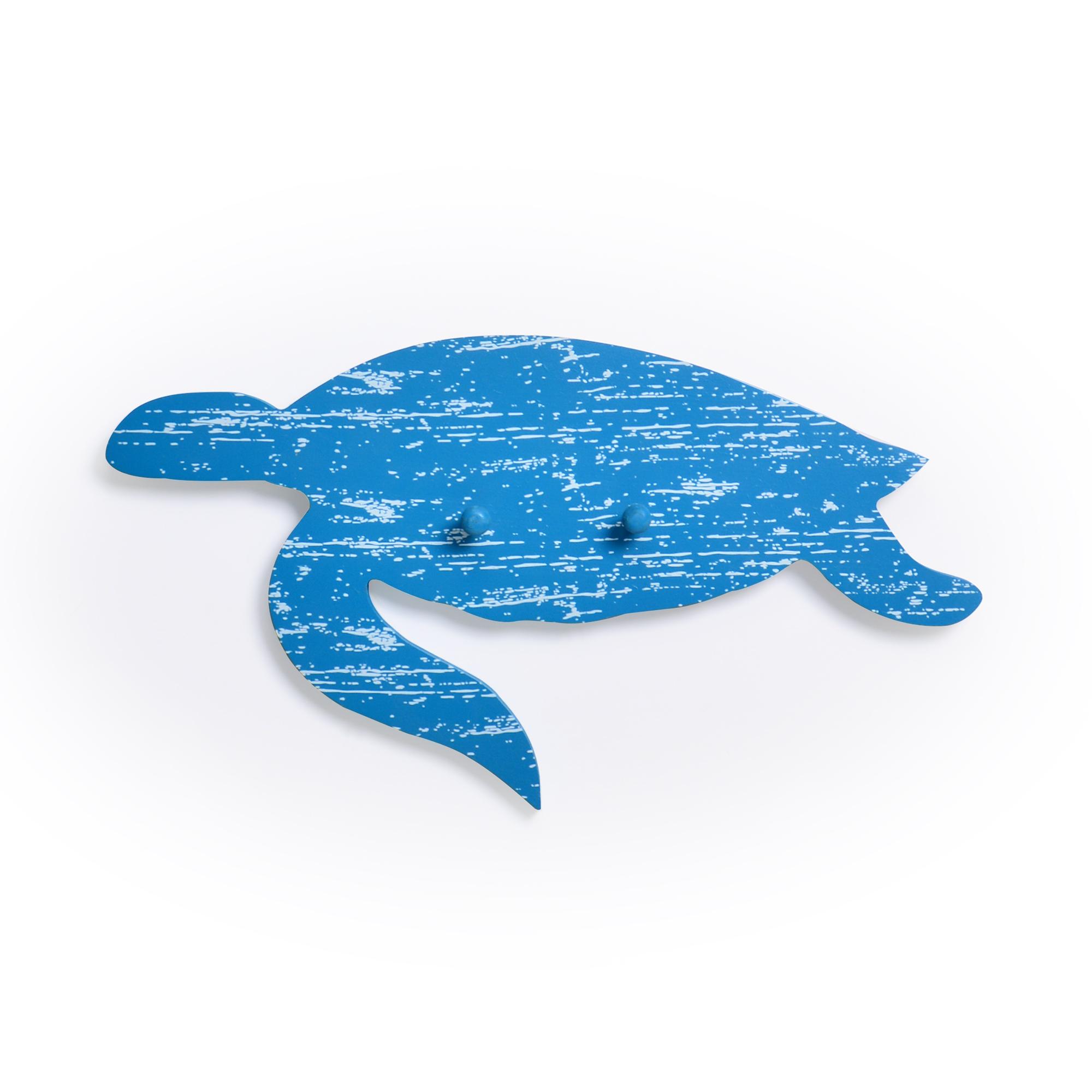 Tartaruga decorativa com gancho Azul
