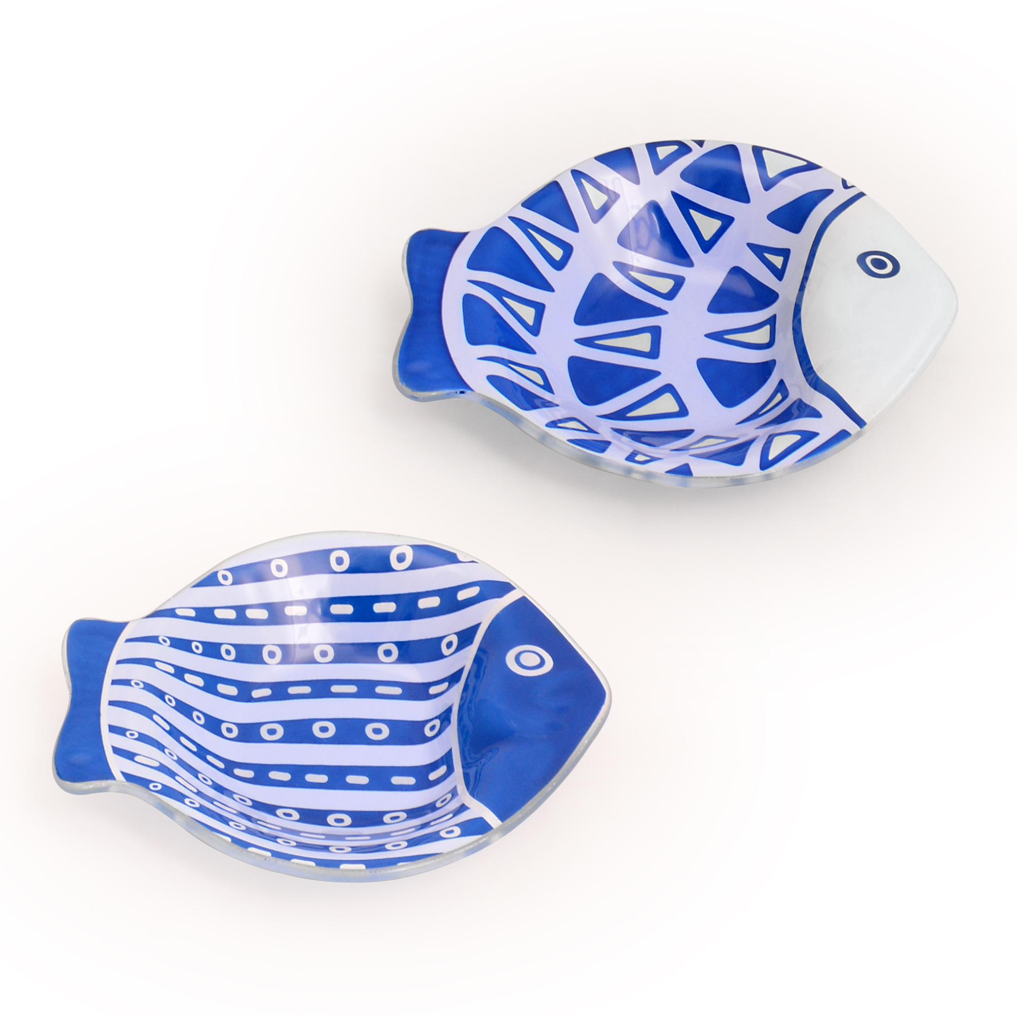 Conjunto 02 peixes pequenos Santorini
