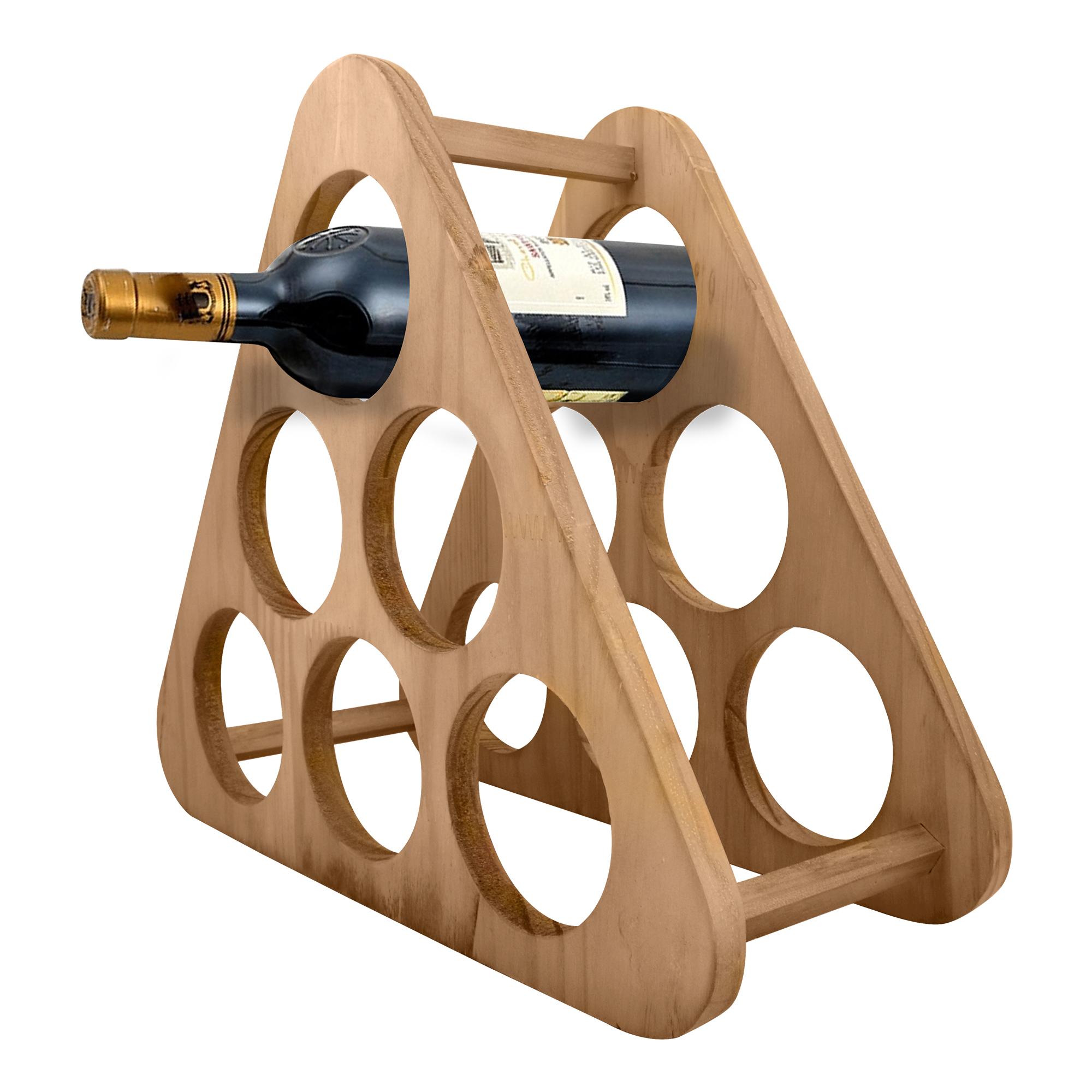 Porta vinhos de madeira