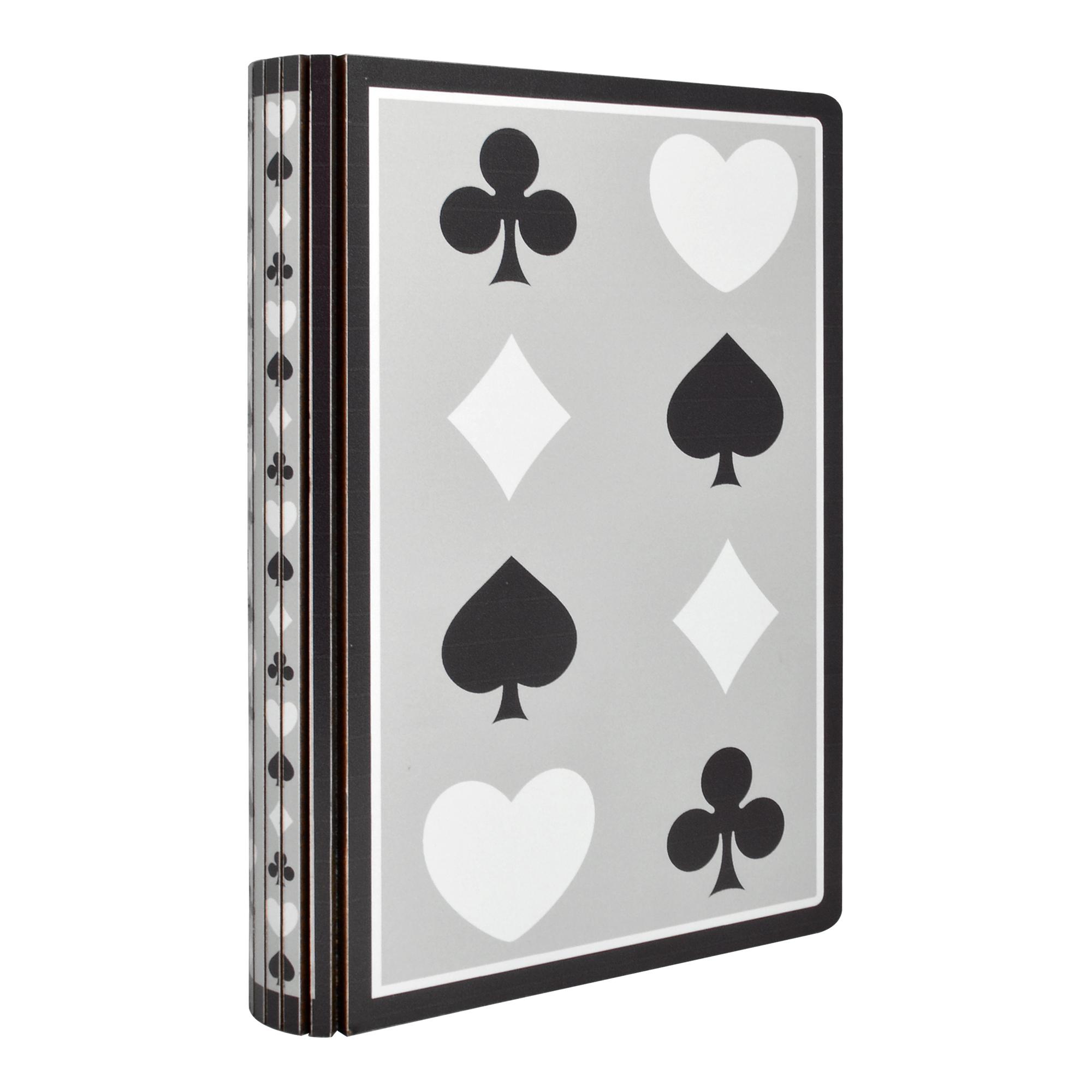 Caixa Livro de madeira Naipes