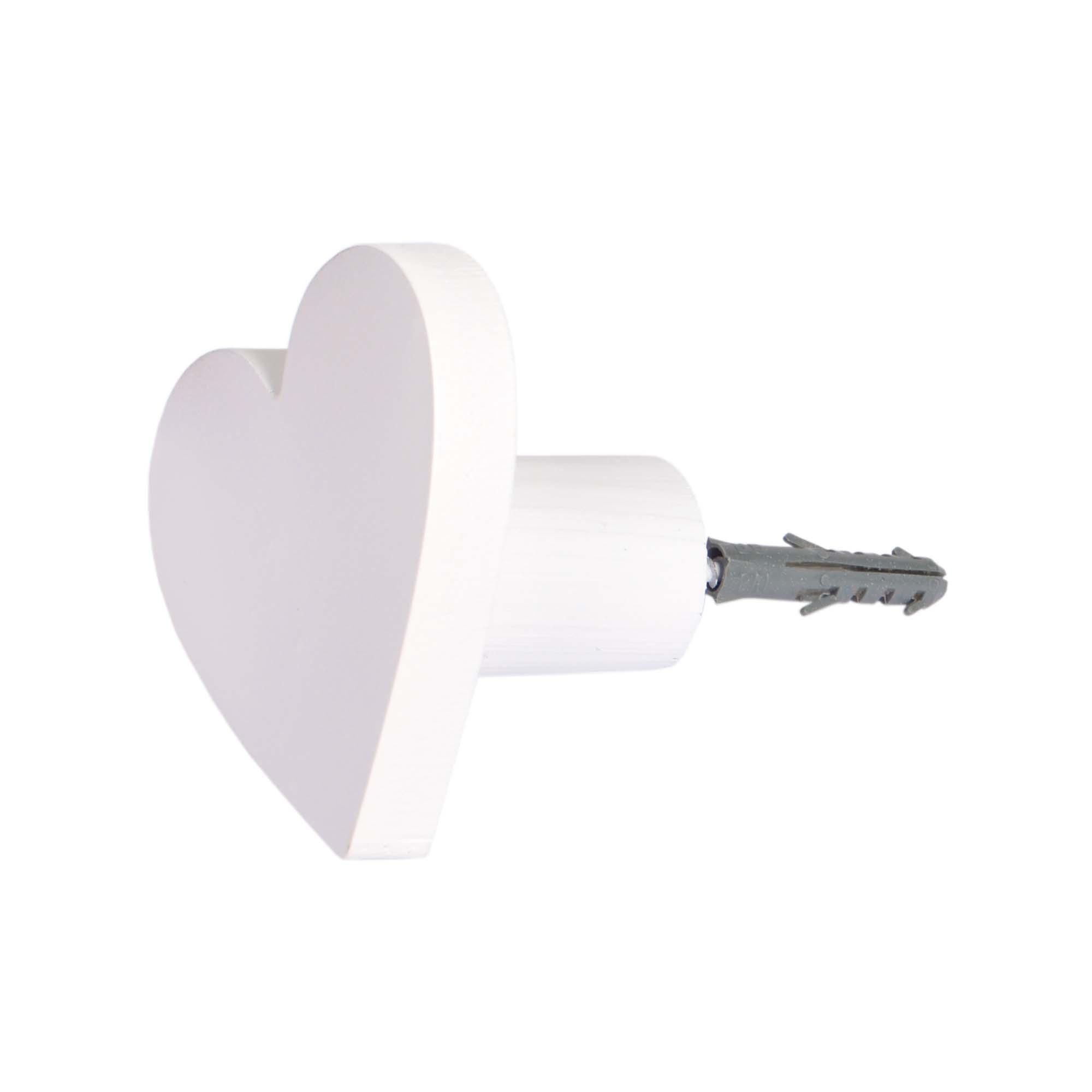 Gancho de parede Coração Branco