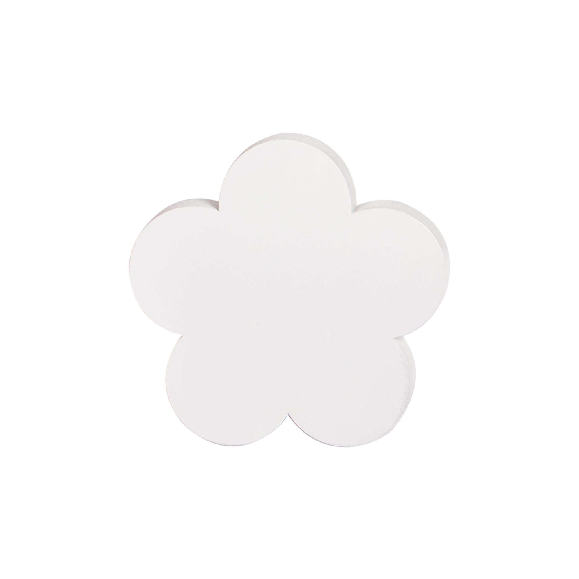 Gancho de parede Flor Branca