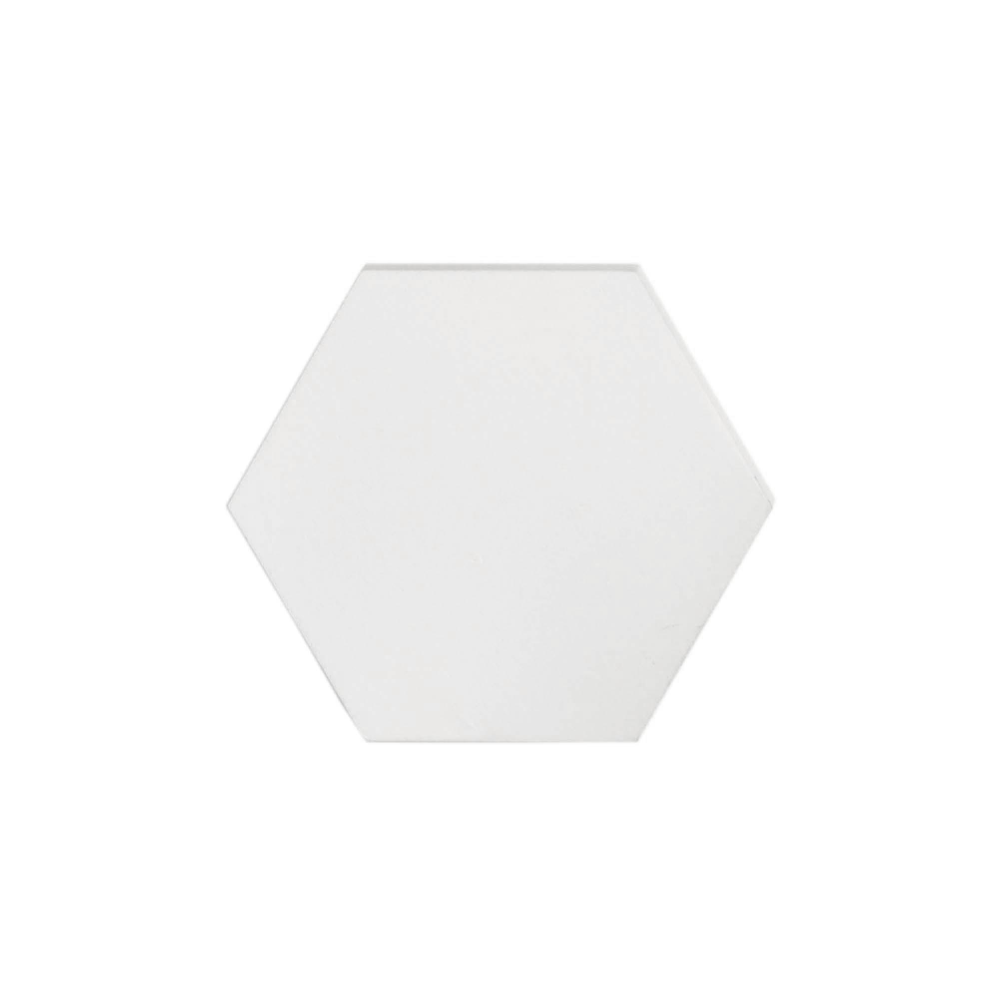 Gancho de parede Hexágono Branco