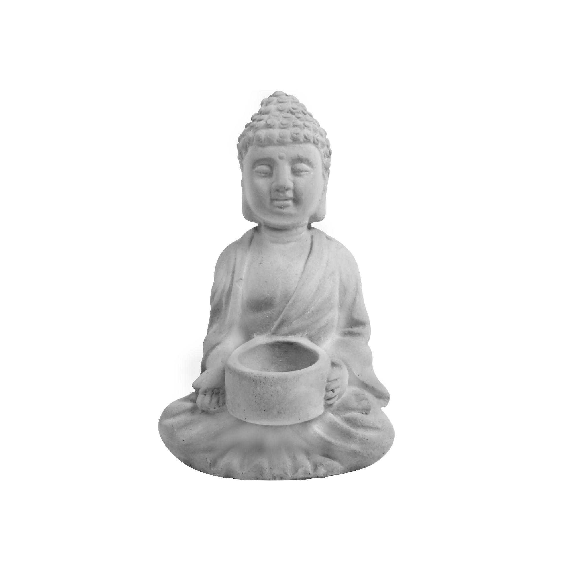 Escultura Buda porta vela
