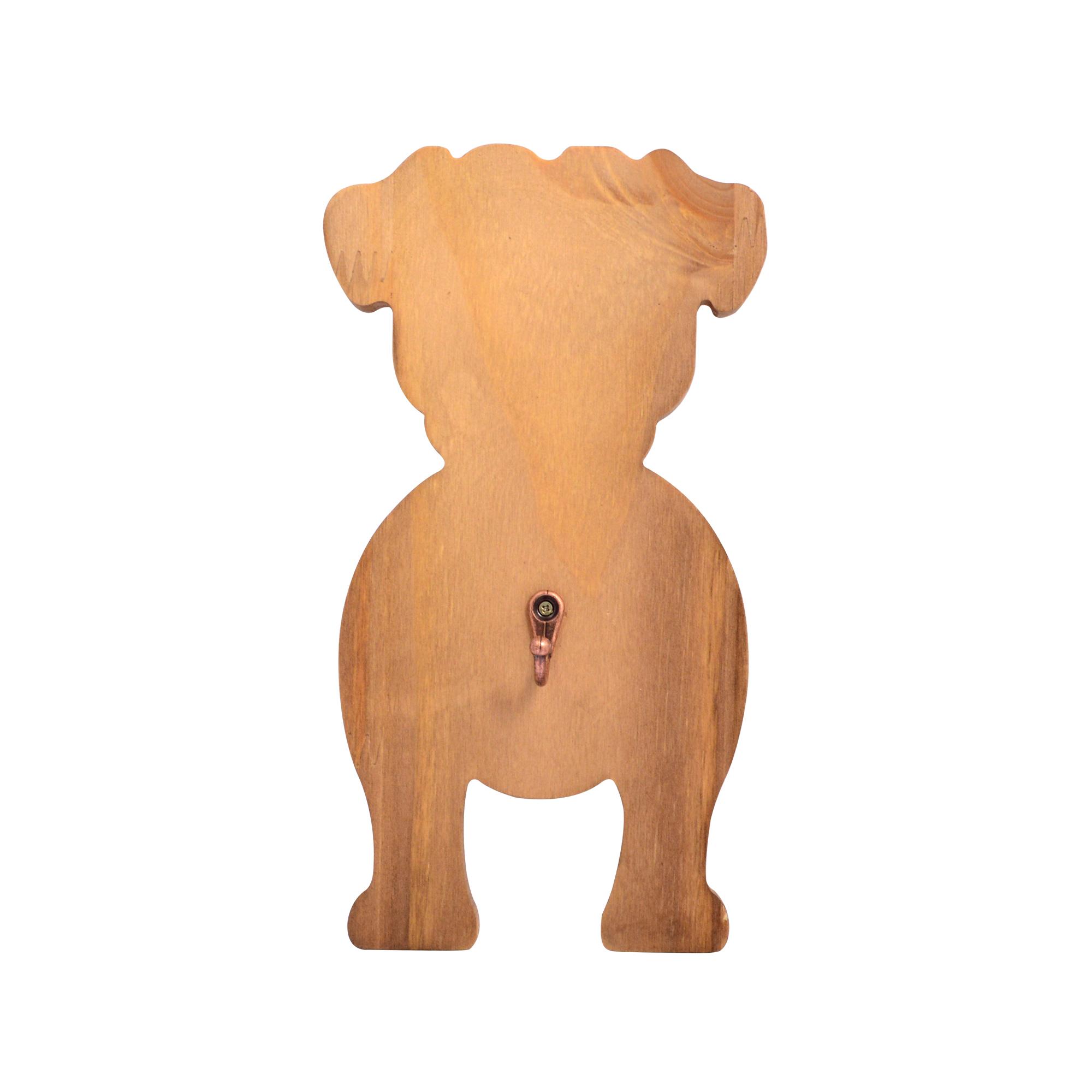 Pendurador de madeira Pug