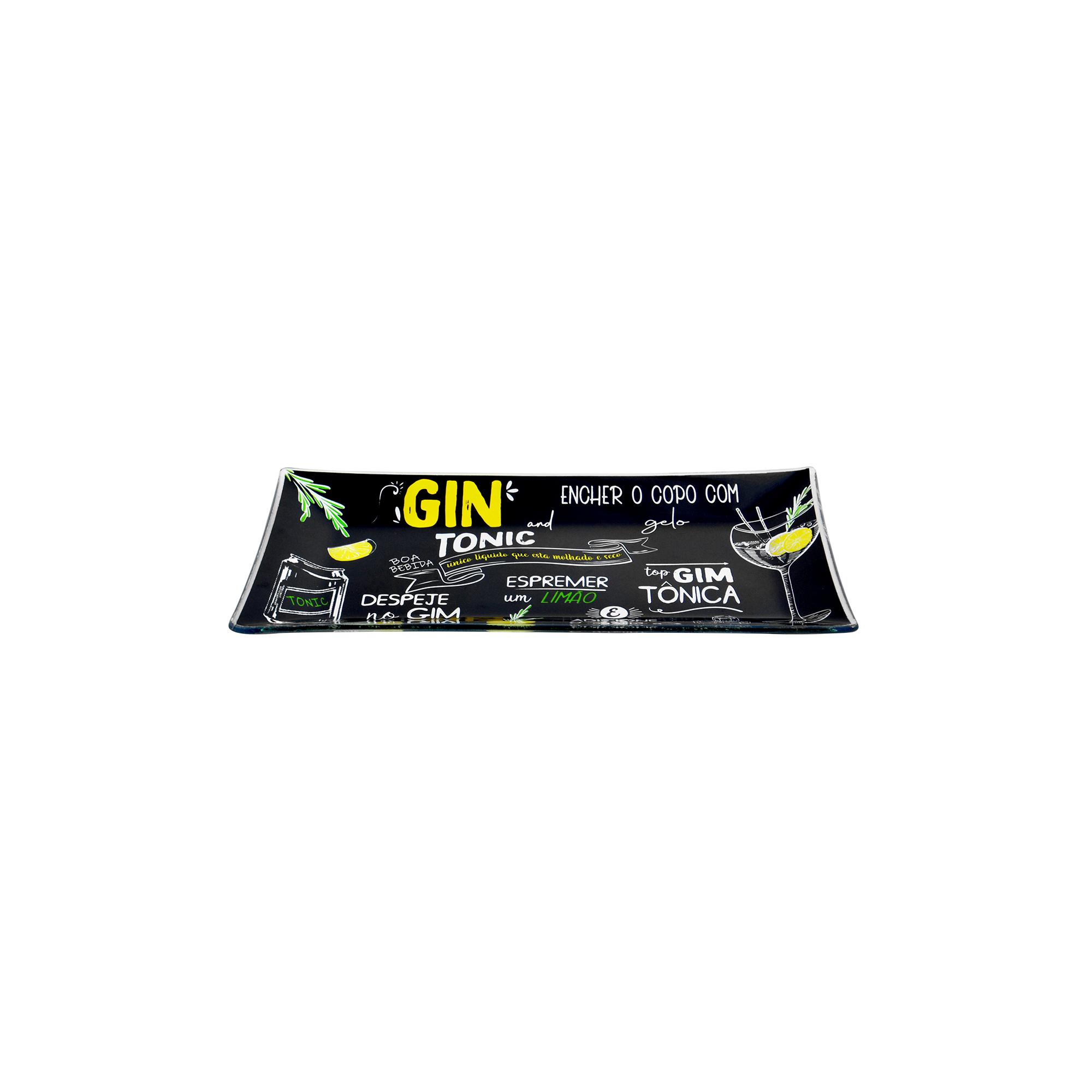 Travessa retangular média Gin