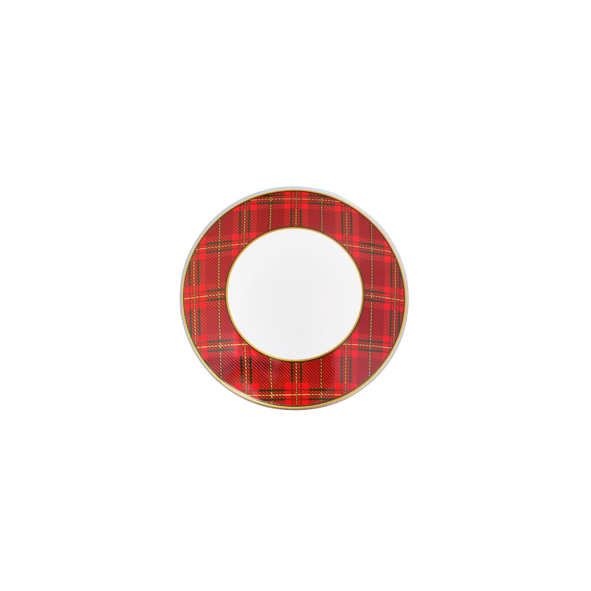 Bowl fundo pequeno Natal Tartan