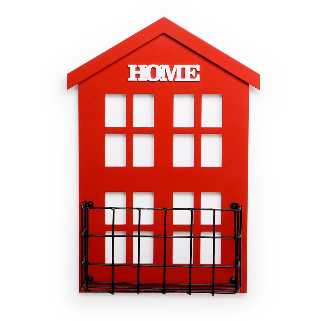 Casa floreira Vermelha grande