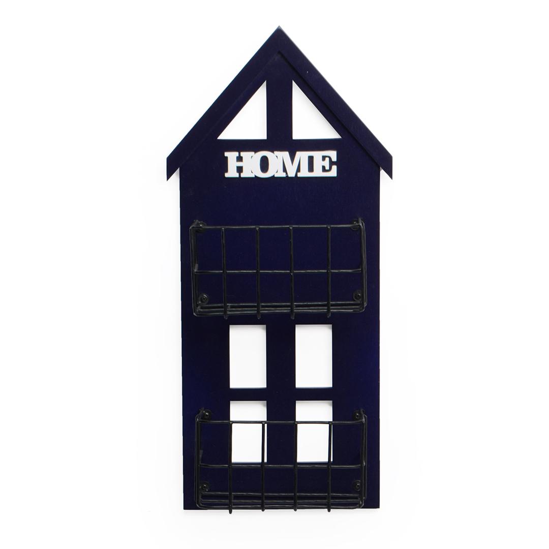 Casa floreira Azul média