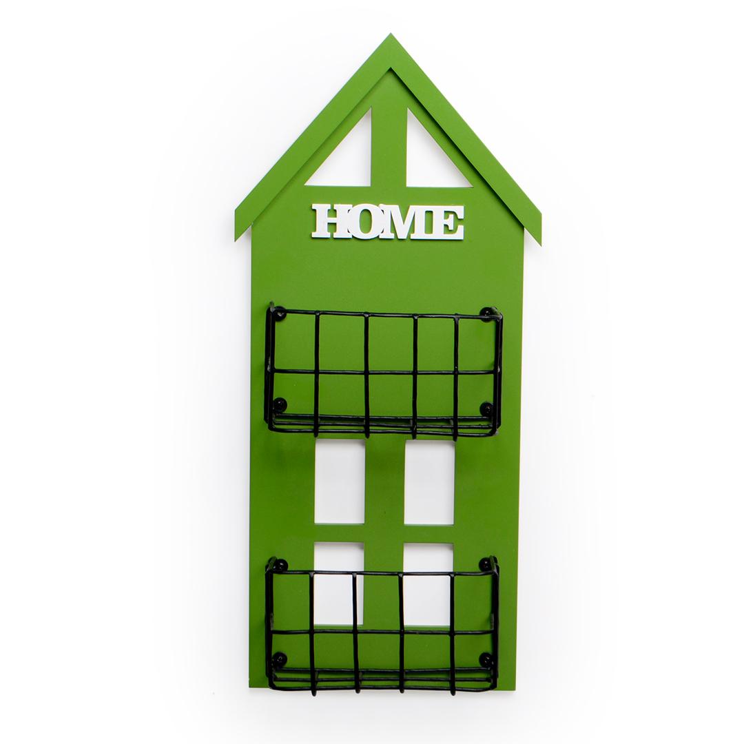 Casa floreira Verde média