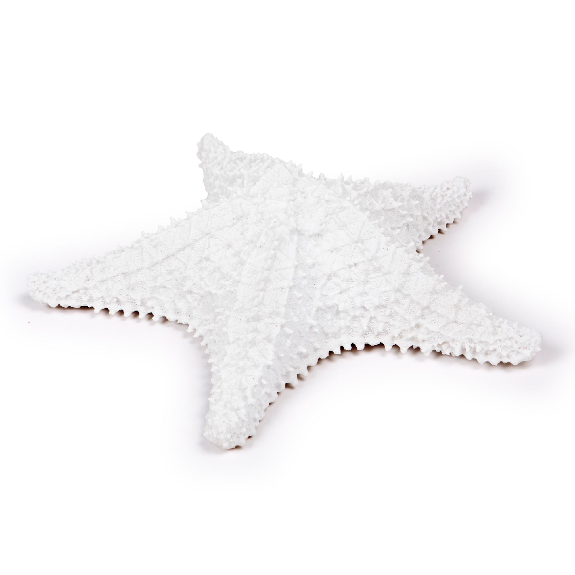 Estrela de resina Branca