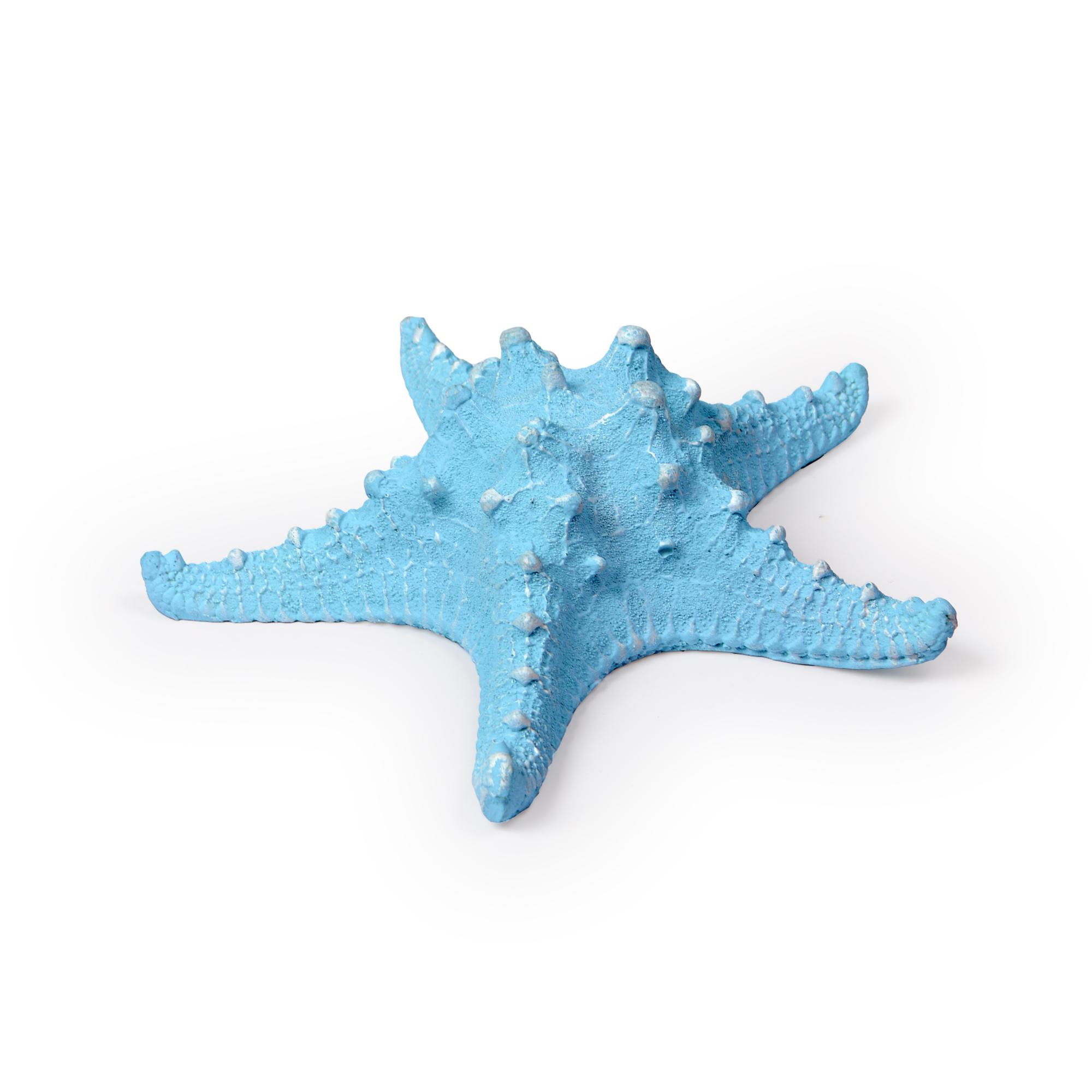 Estrela de resina Azul Claro