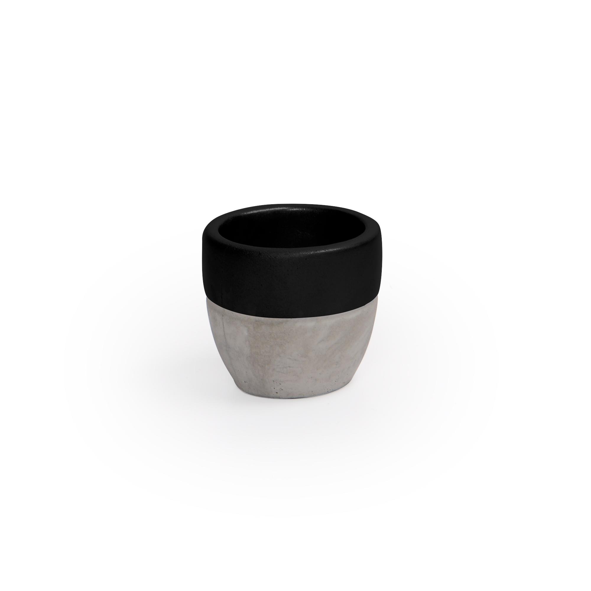 Vaso de Concreto Preto Pequeno